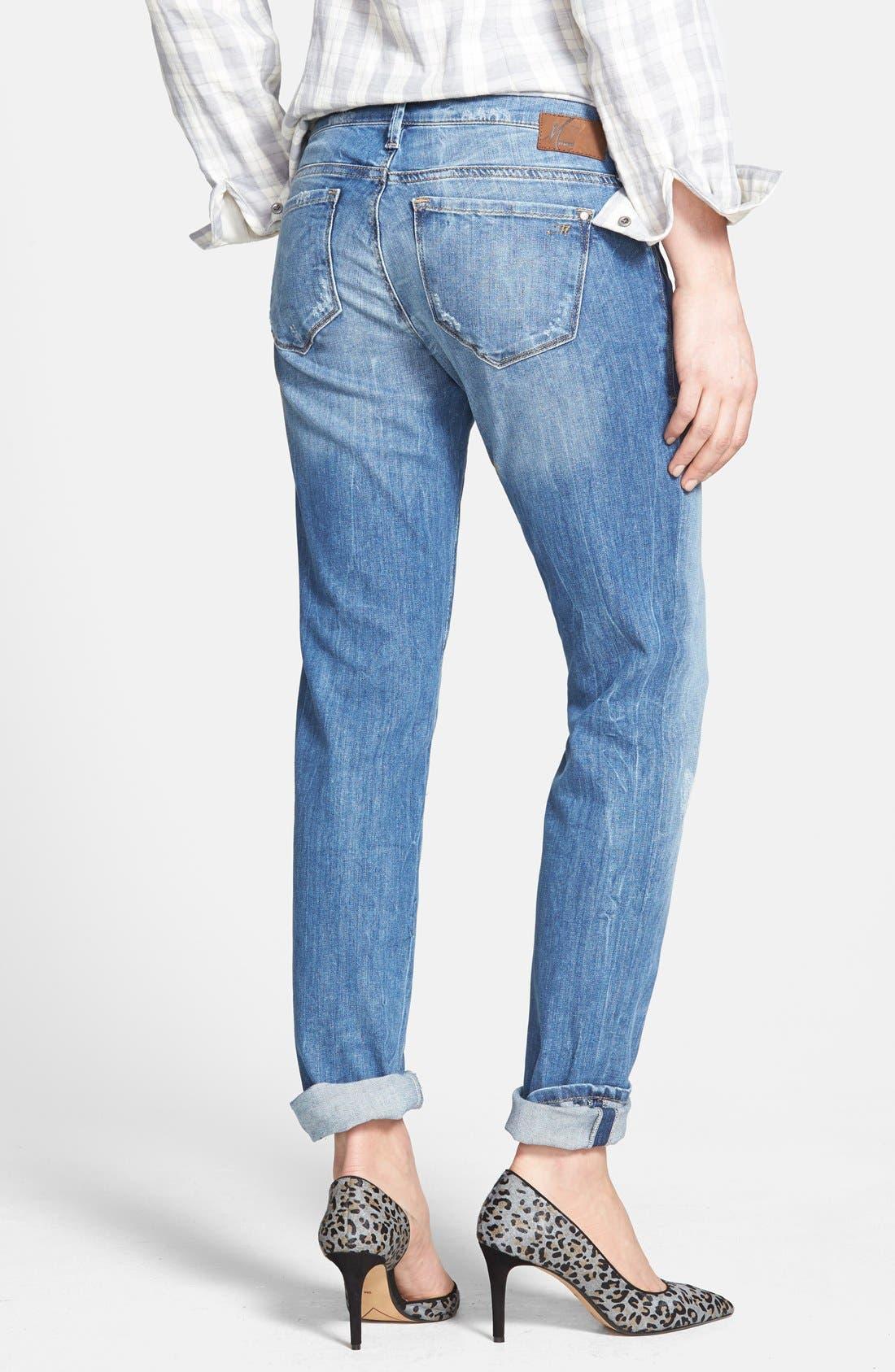'Emma' Distressed Slim Boyfriend Jeans,                             Alternate thumbnail 3, color,                             420