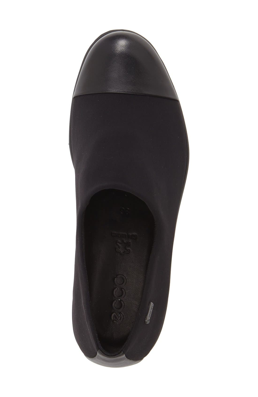 'Felicia GTX' Waterproof Wedge Loafer,                             Alternate thumbnail 2, color,                             BLACK GORE FABRIC