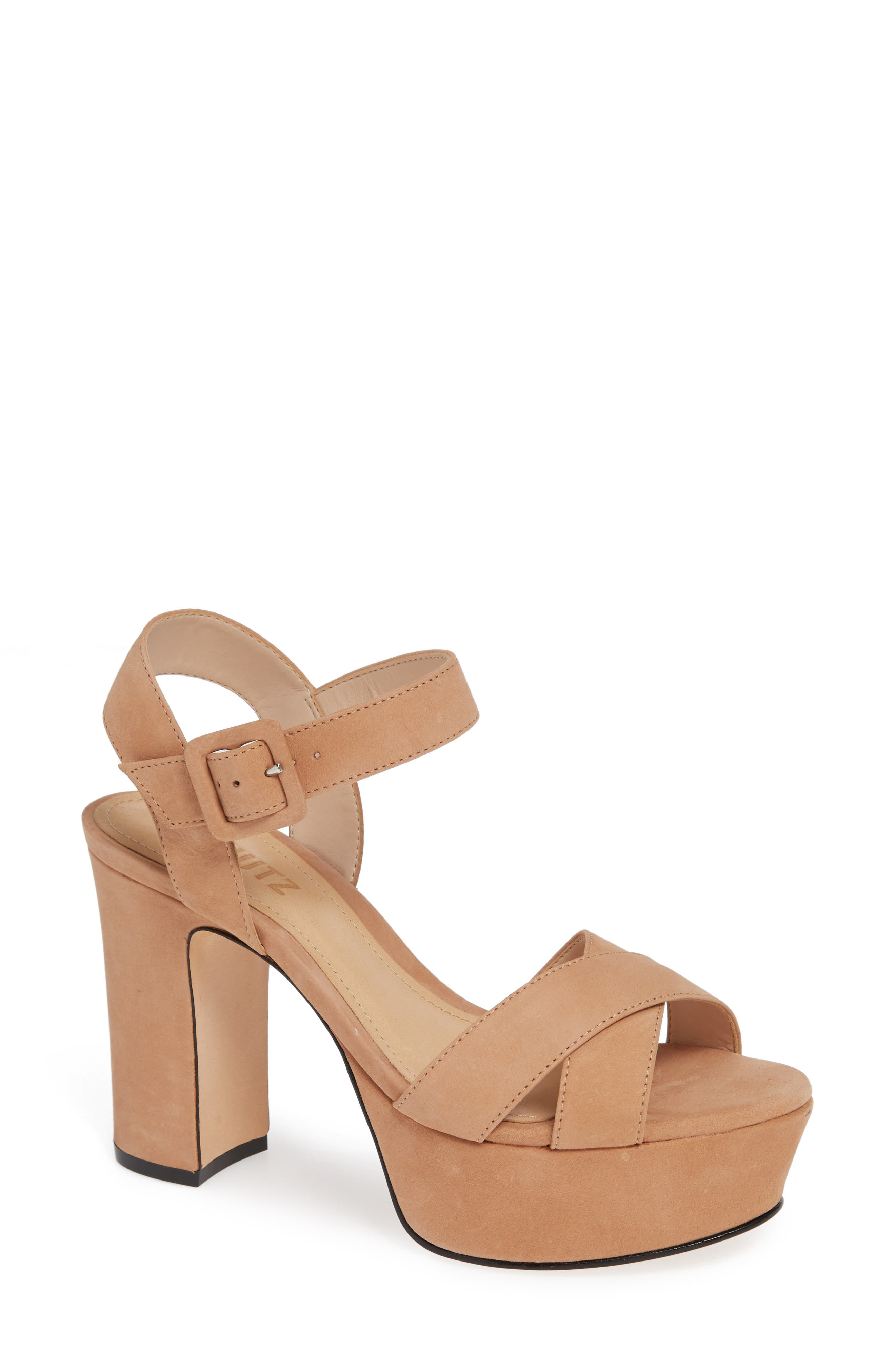 Tulia Sandal,                             Main thumbnail 1, color,                             HONEY BEIGE NUBUCK