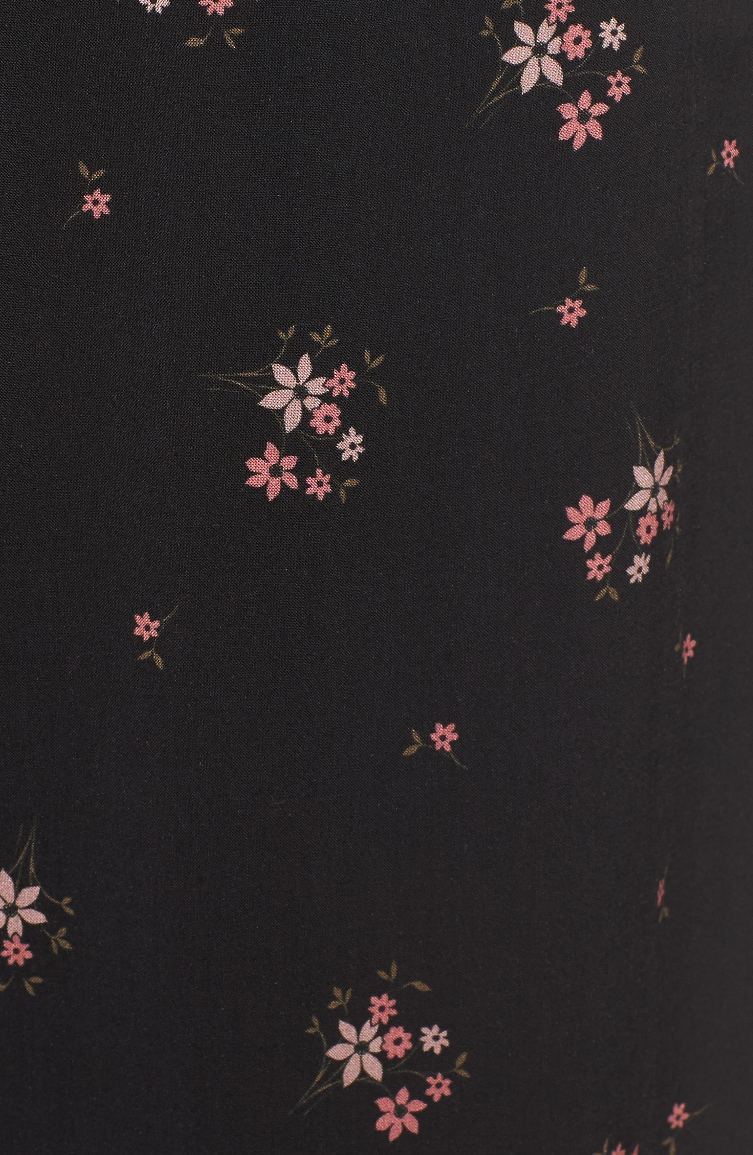 Floral Printed Pants,                             Alternate thumbnail 5, color,                             CAMELLIA