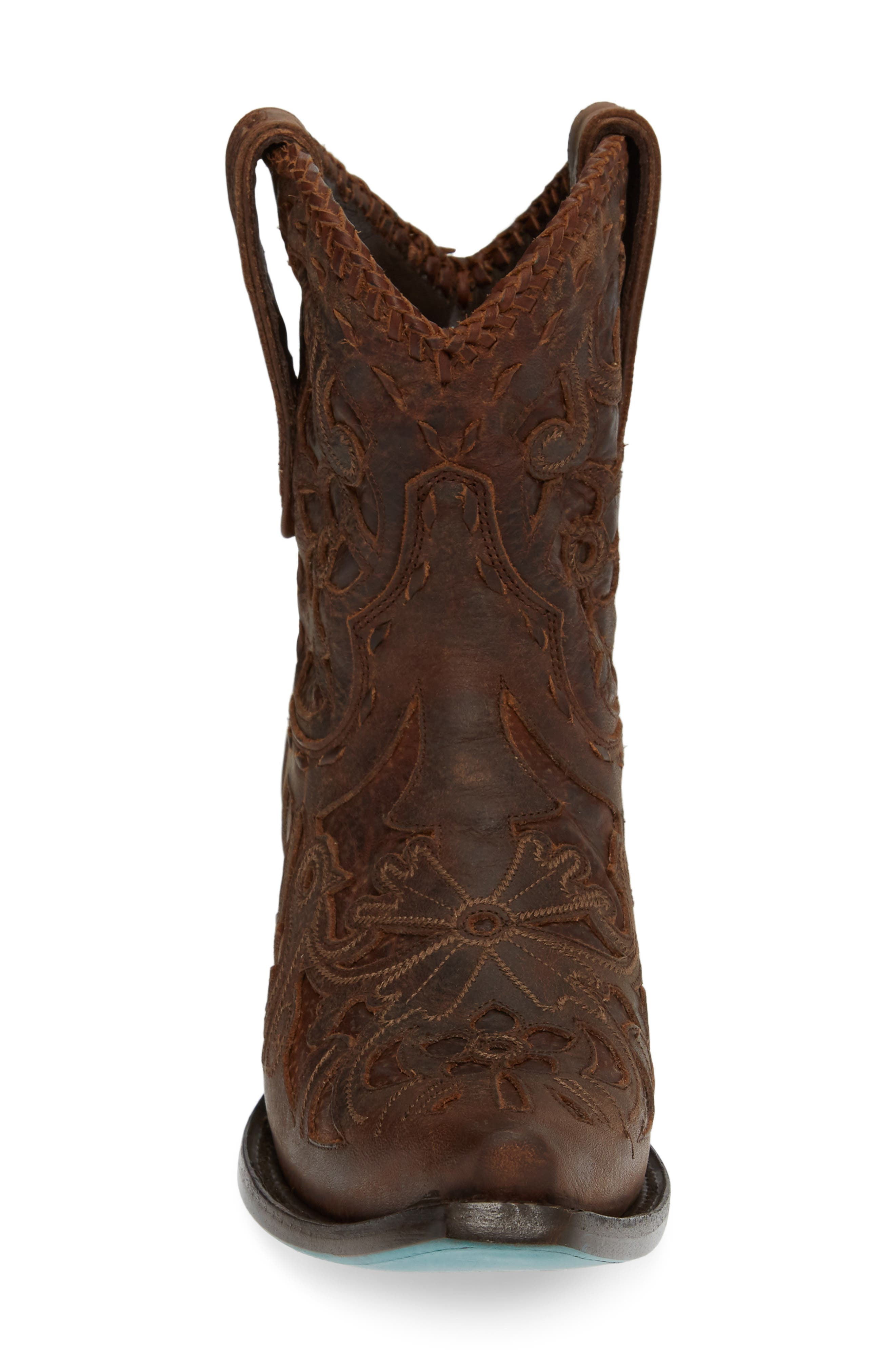 LANE BOOTS,                             Robin Western Boot,                             Alternate thumbnail 4, color,                             DARK BROWN LEATHER
