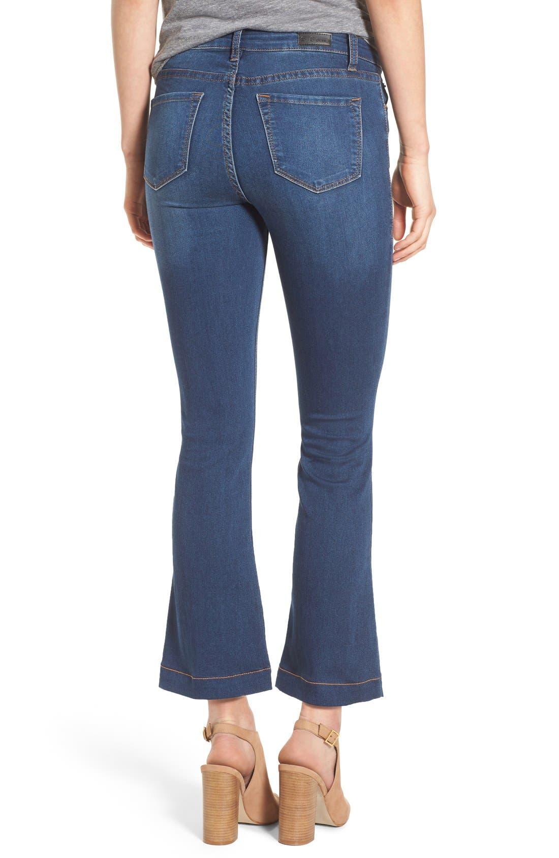 Crop Flare Jeans,                             Alternate thumbnail 2, color,                             400
