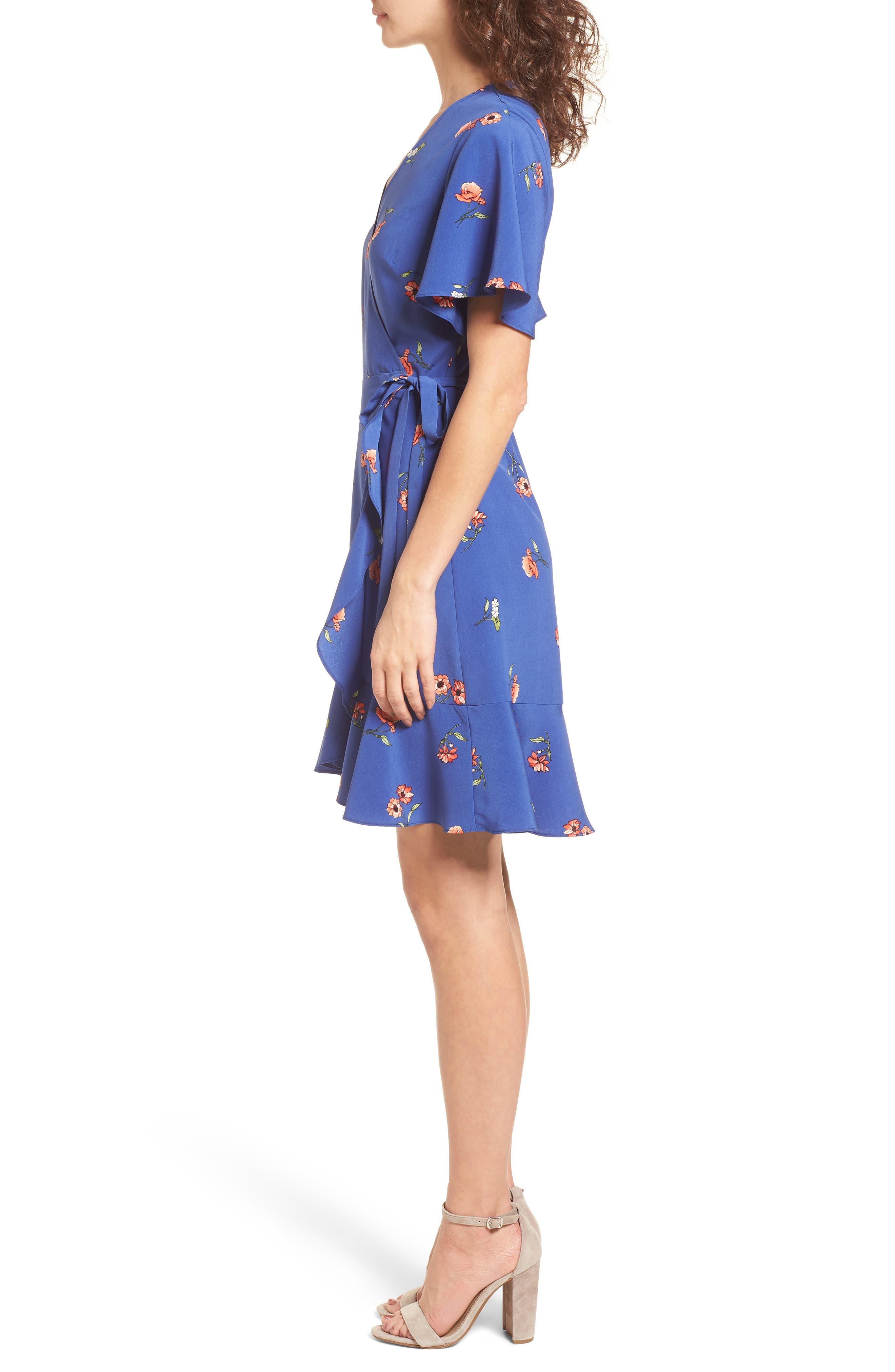 Lucy Floral Wrap Dress,                             Alternate thumbnail 11, color,