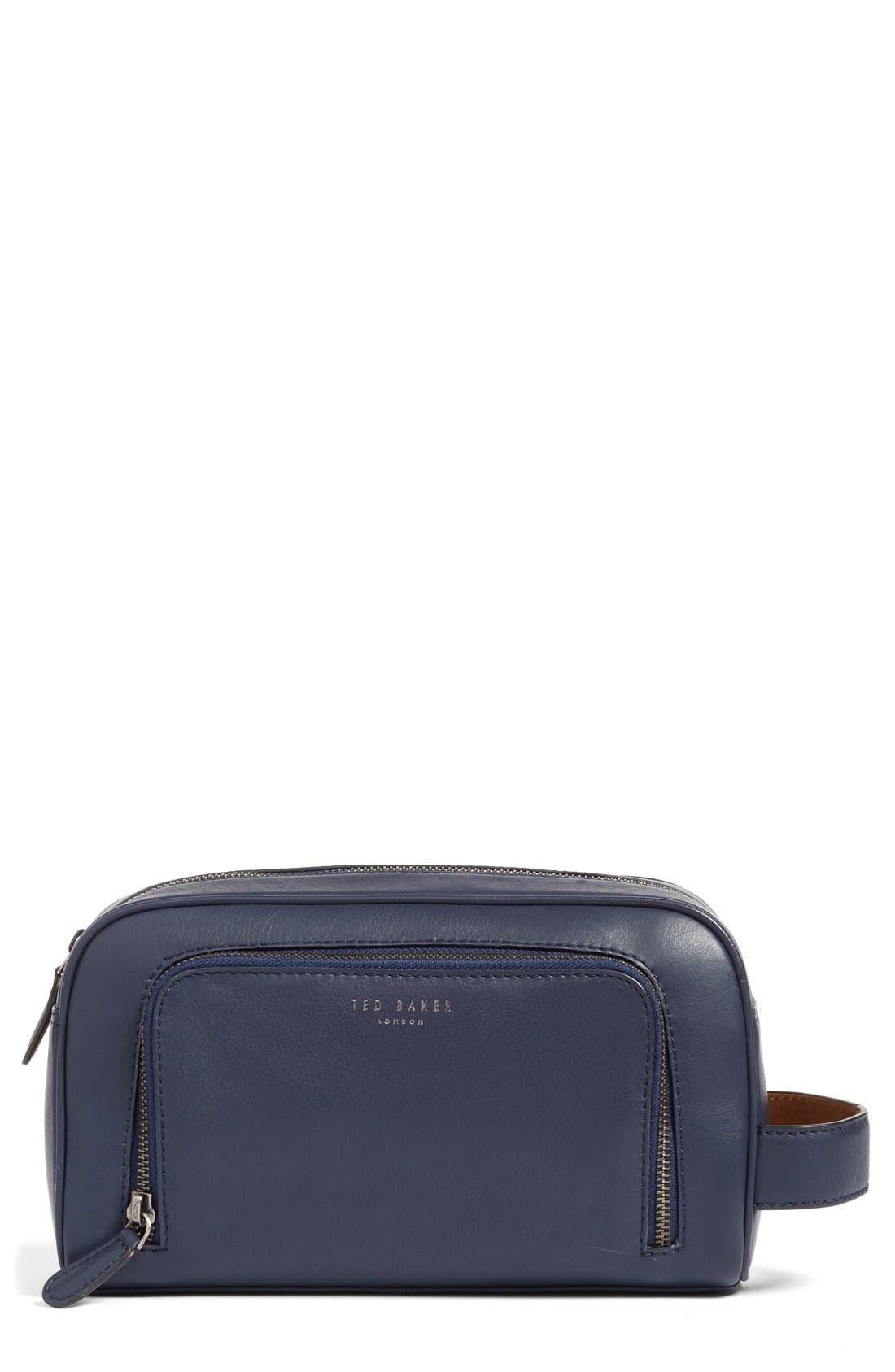 'Footsy' Leather Travel Kit,                             Main thumbnail 1, color,                             410