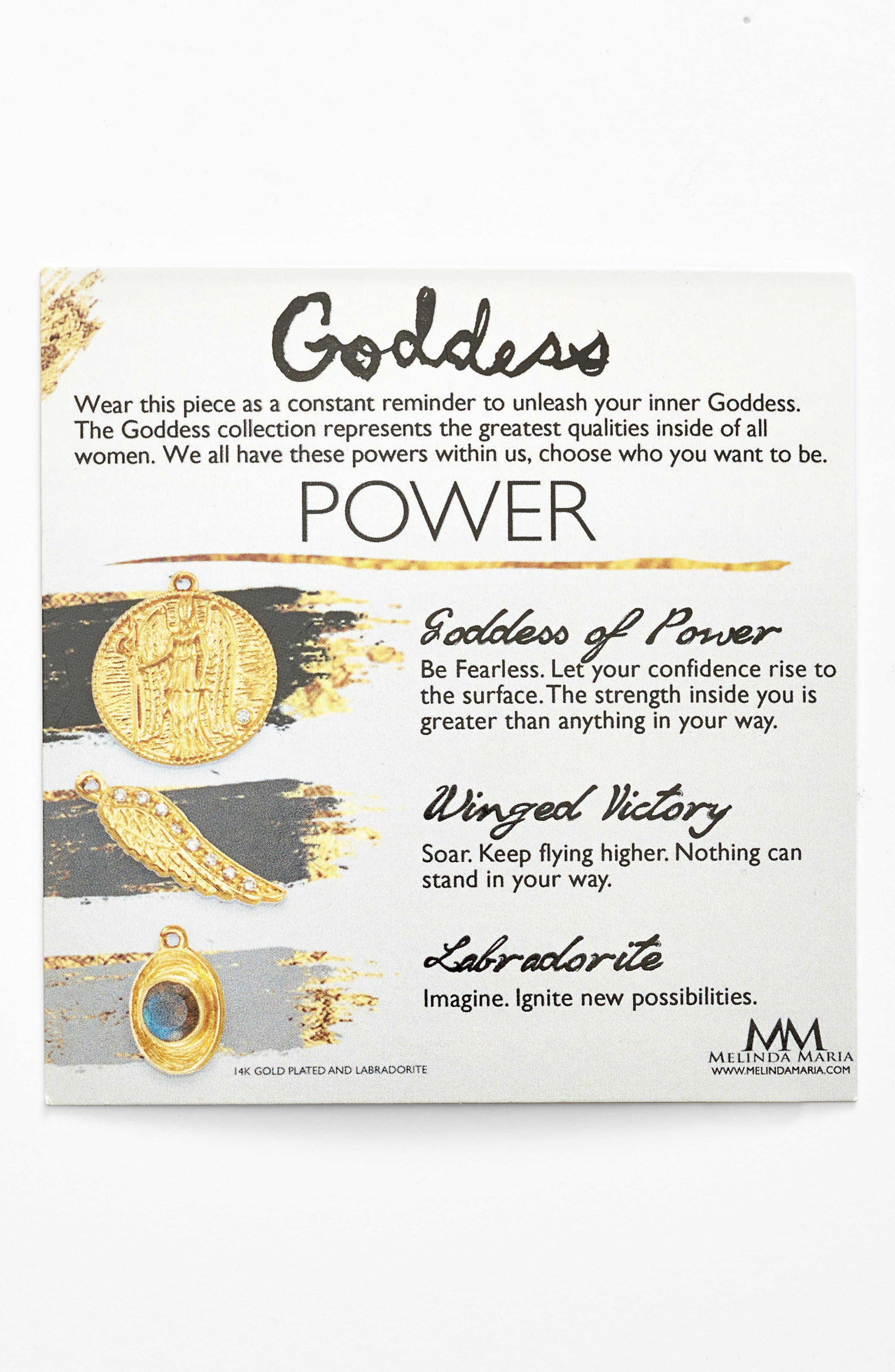 Goddess of Power Pendant Necklace,                             Alternate thumbnail 4, color,