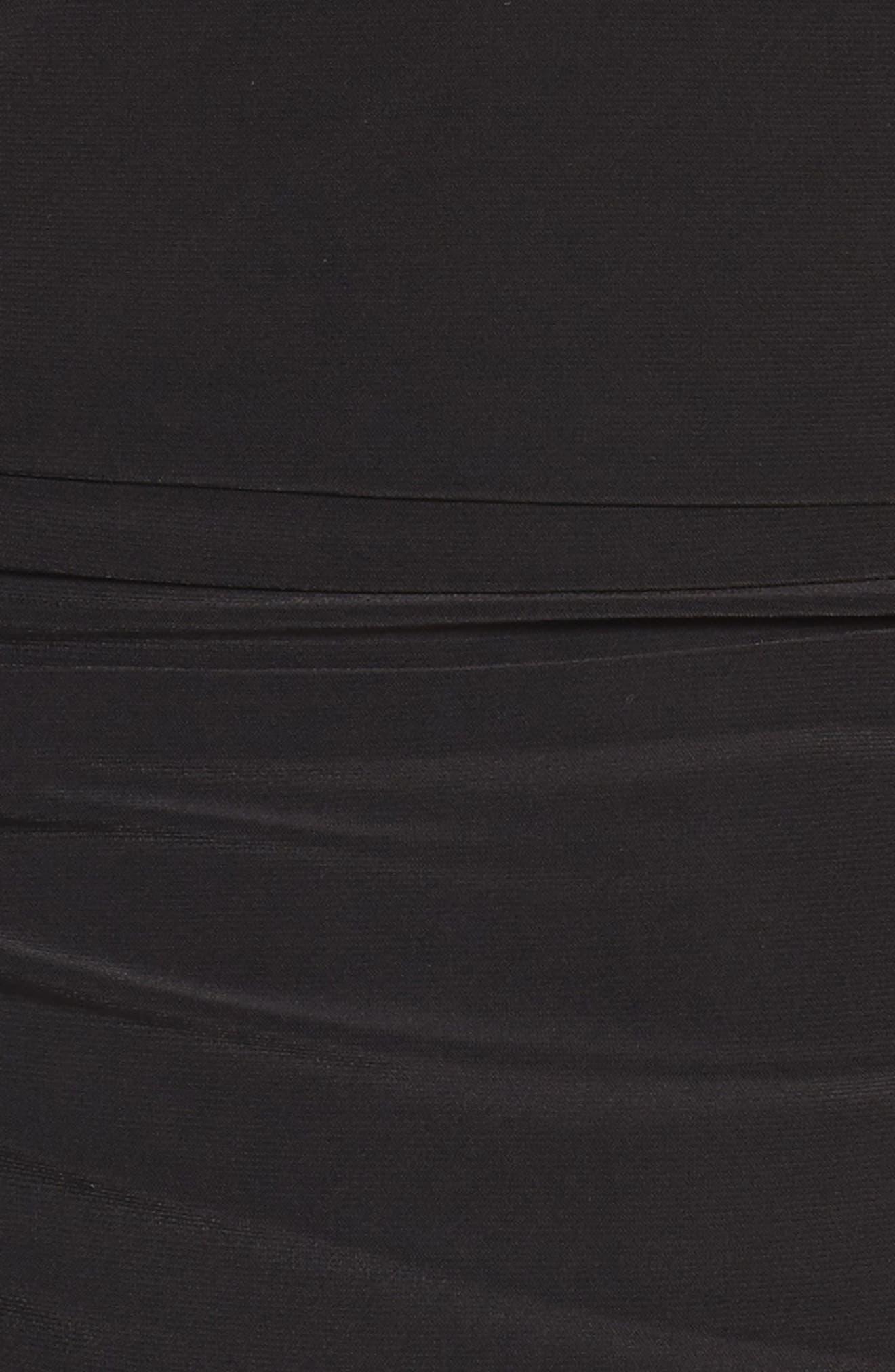 Mesh Panel Gown,                             Alternate thumbnail 5, color,                             001