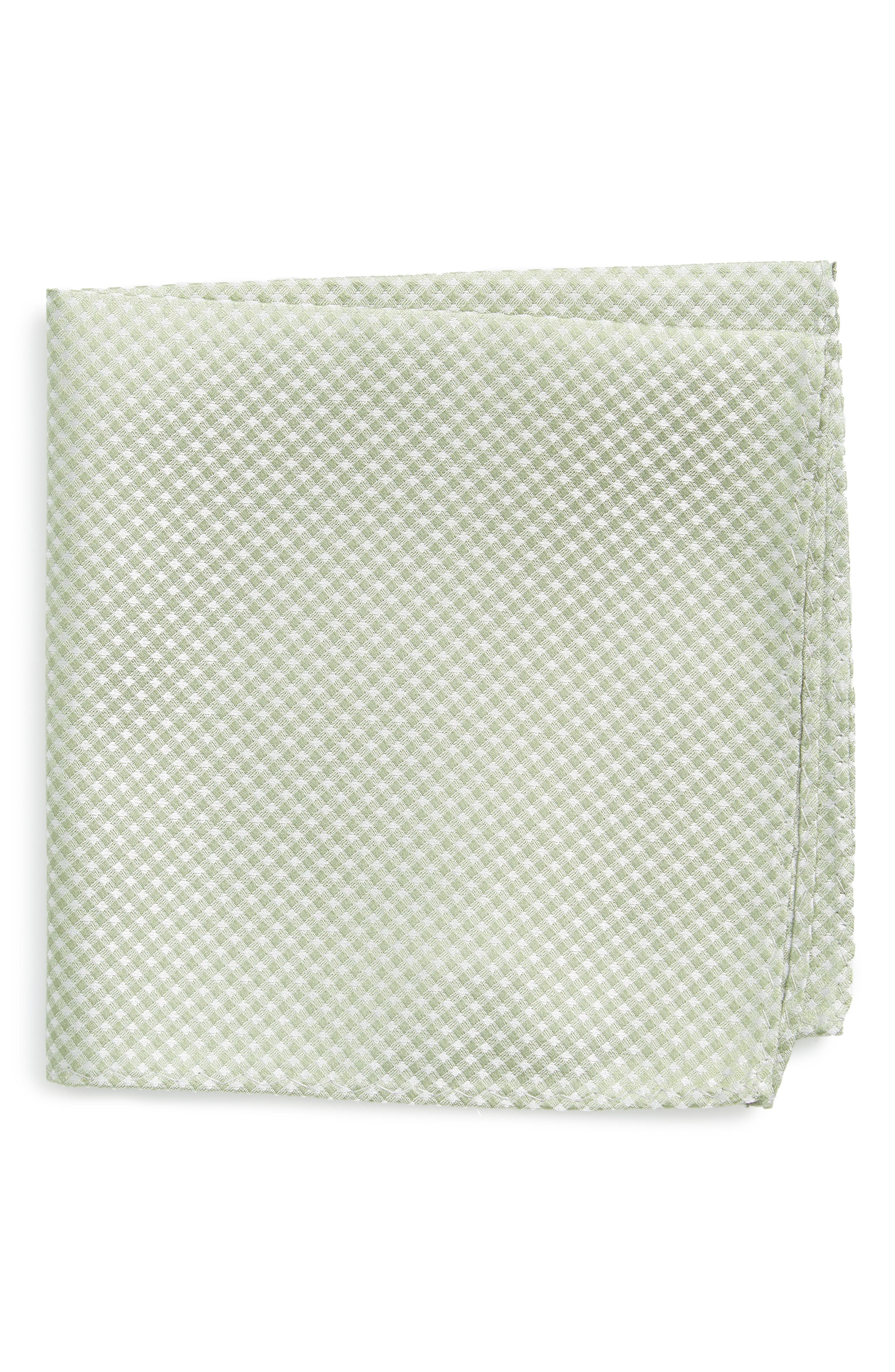 Check Silk Pocket Square,                         Main,                         color, 357