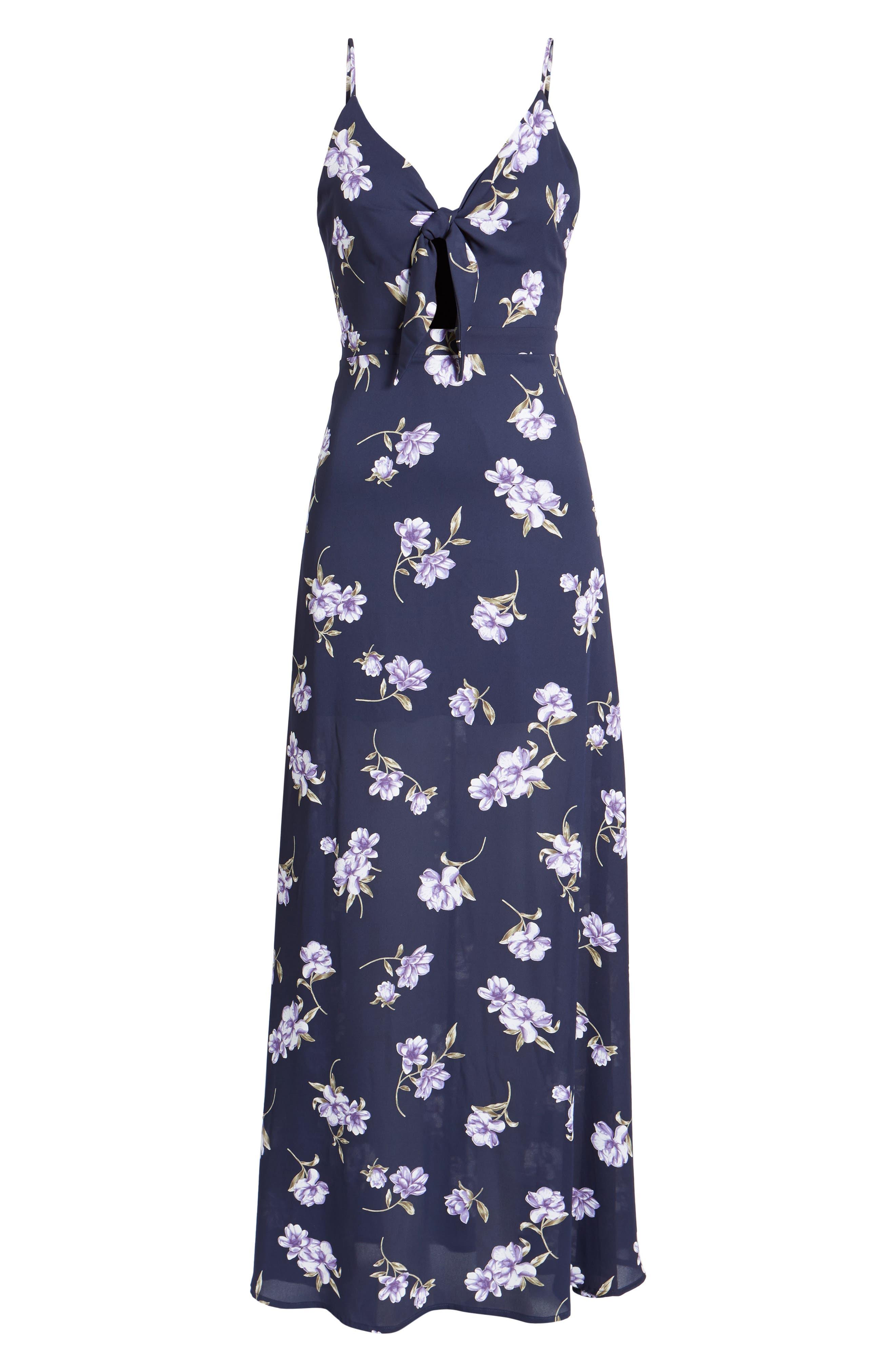 Tie Front Maxi Dress,                             Alternate thumbnail 6, color,                             400
