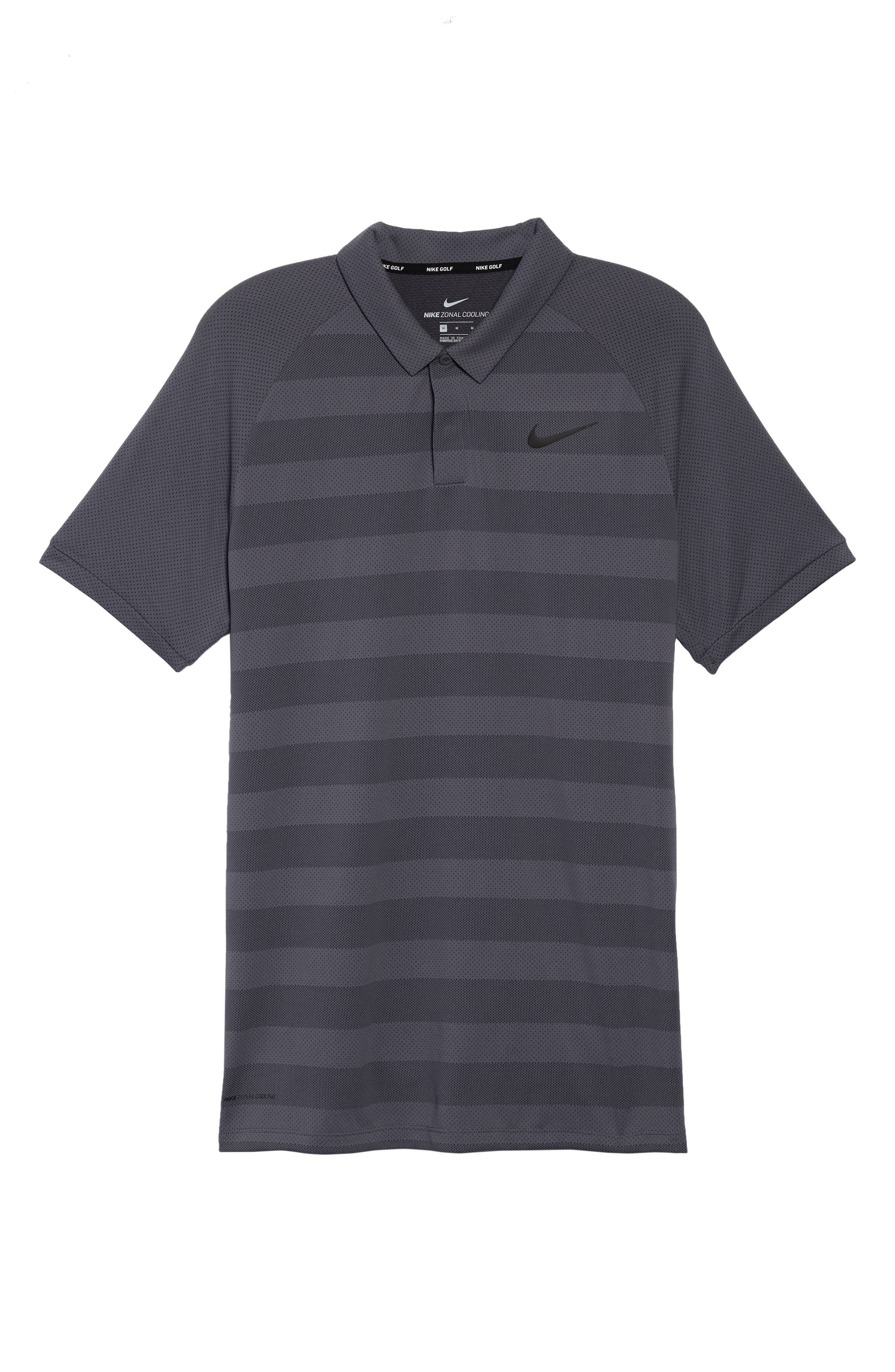 NIKE,                             Stripe Polo Shirt,                             Alternate thumbnail 6, color,                             021