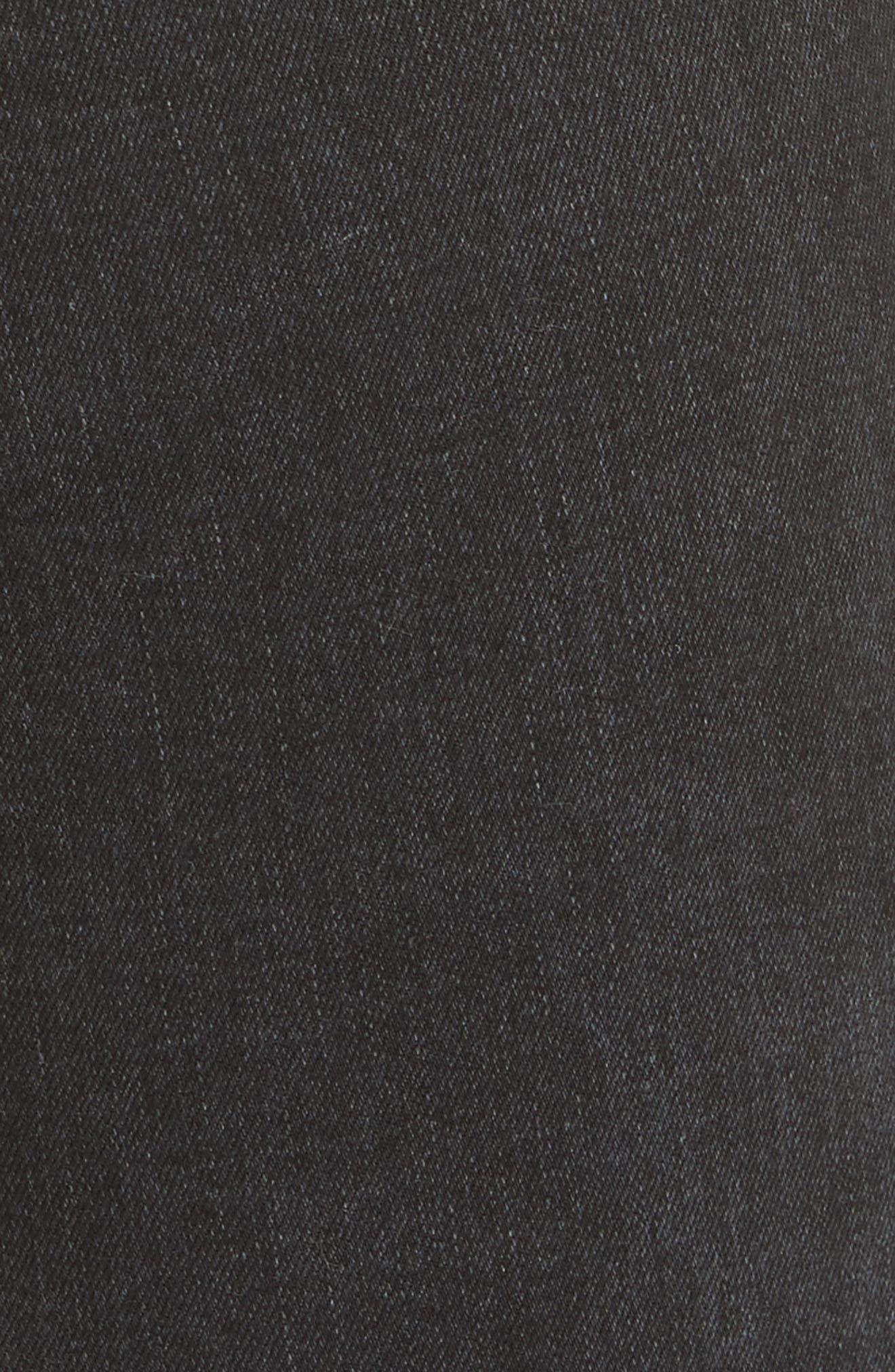 Ultra High Waist Crop Bootcut Jeans,                             Alternate thumbnail 6, color,                             001