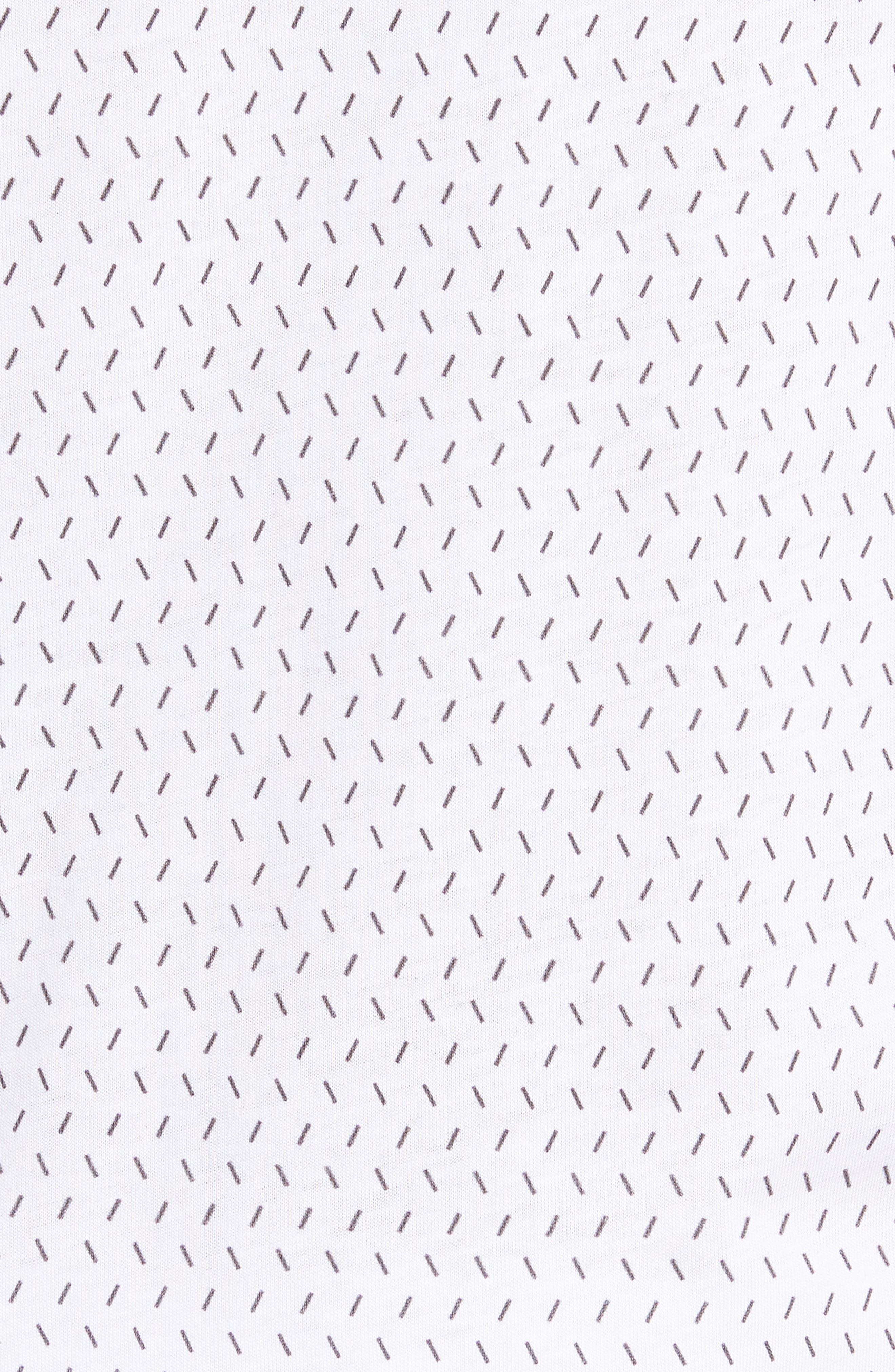 Abot Trim Fit Print Polo,                             Alternate thumbnail 5, color,                             WHITE