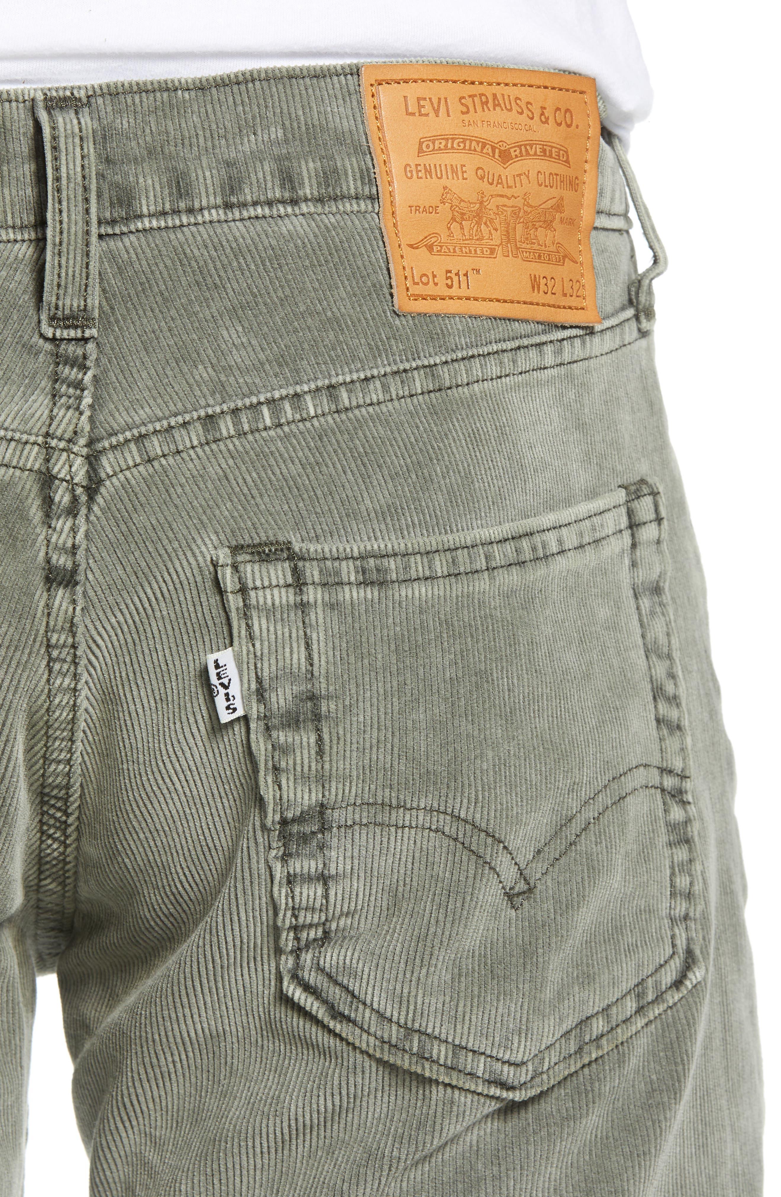 511<sup>™</sup> Slim Fit Corduroy Jeans,                             Alternate thumbnail 4, color,                             ROSIN WARP CORDUROY
