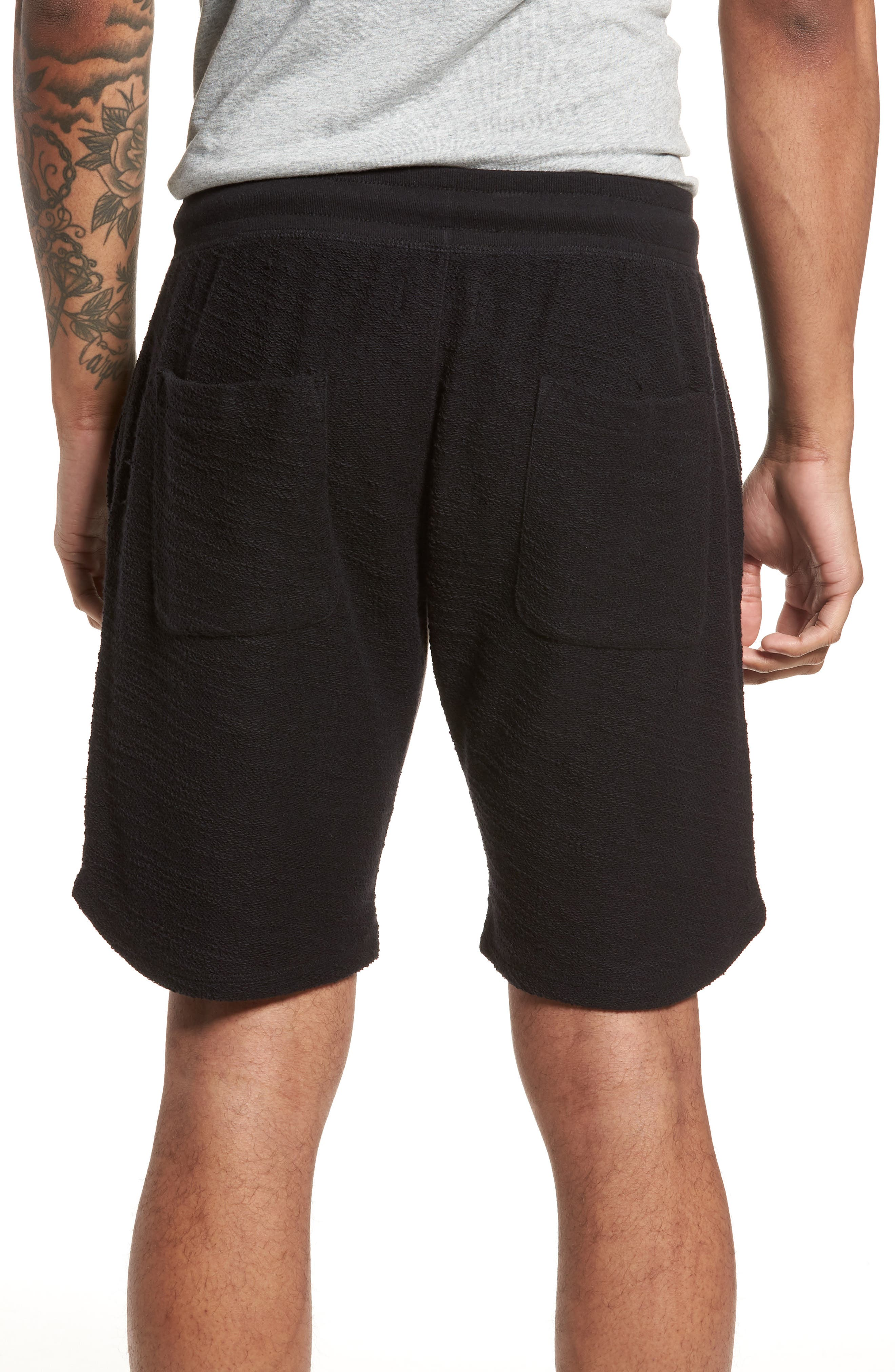 Terry Cotton Blend Shorts,                             Alternate thumbnail 2, color,                             001