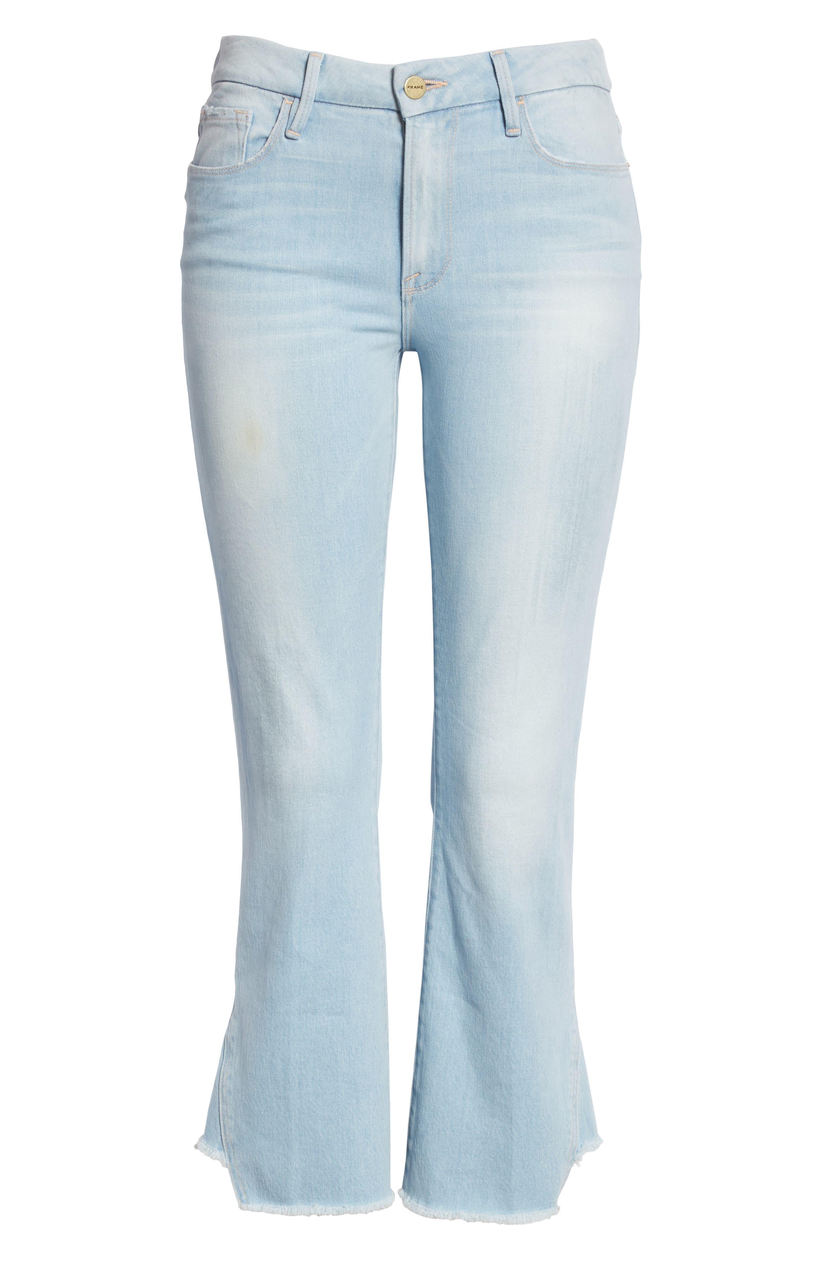 Le Crop Gusset Step Hem Mini Boot Jeans,                             Alternate thumbnail 6, color,                             450