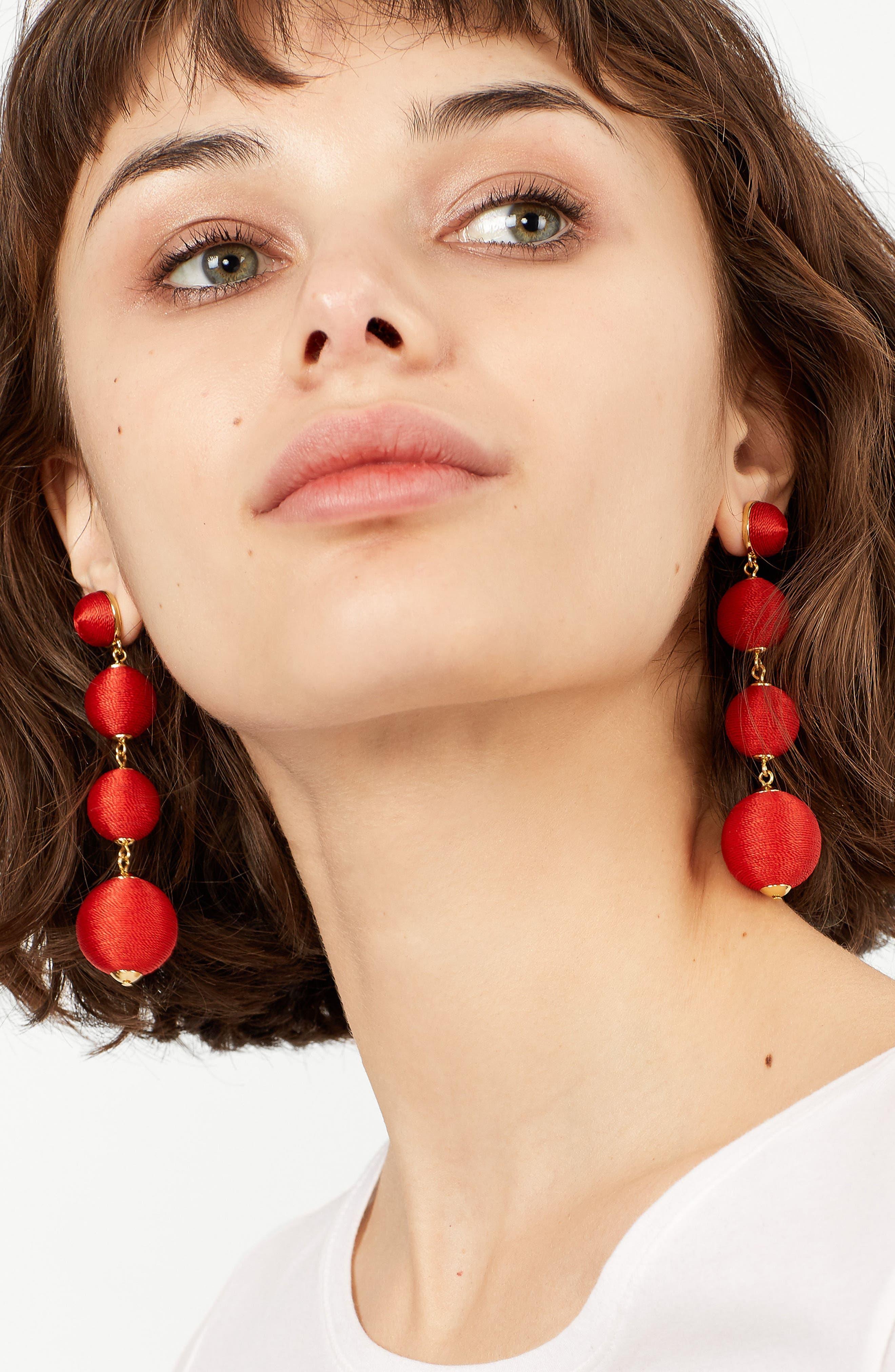Criselda Ball Shoulder Duster Earrings,                             Alternate thumbnail 15, color,