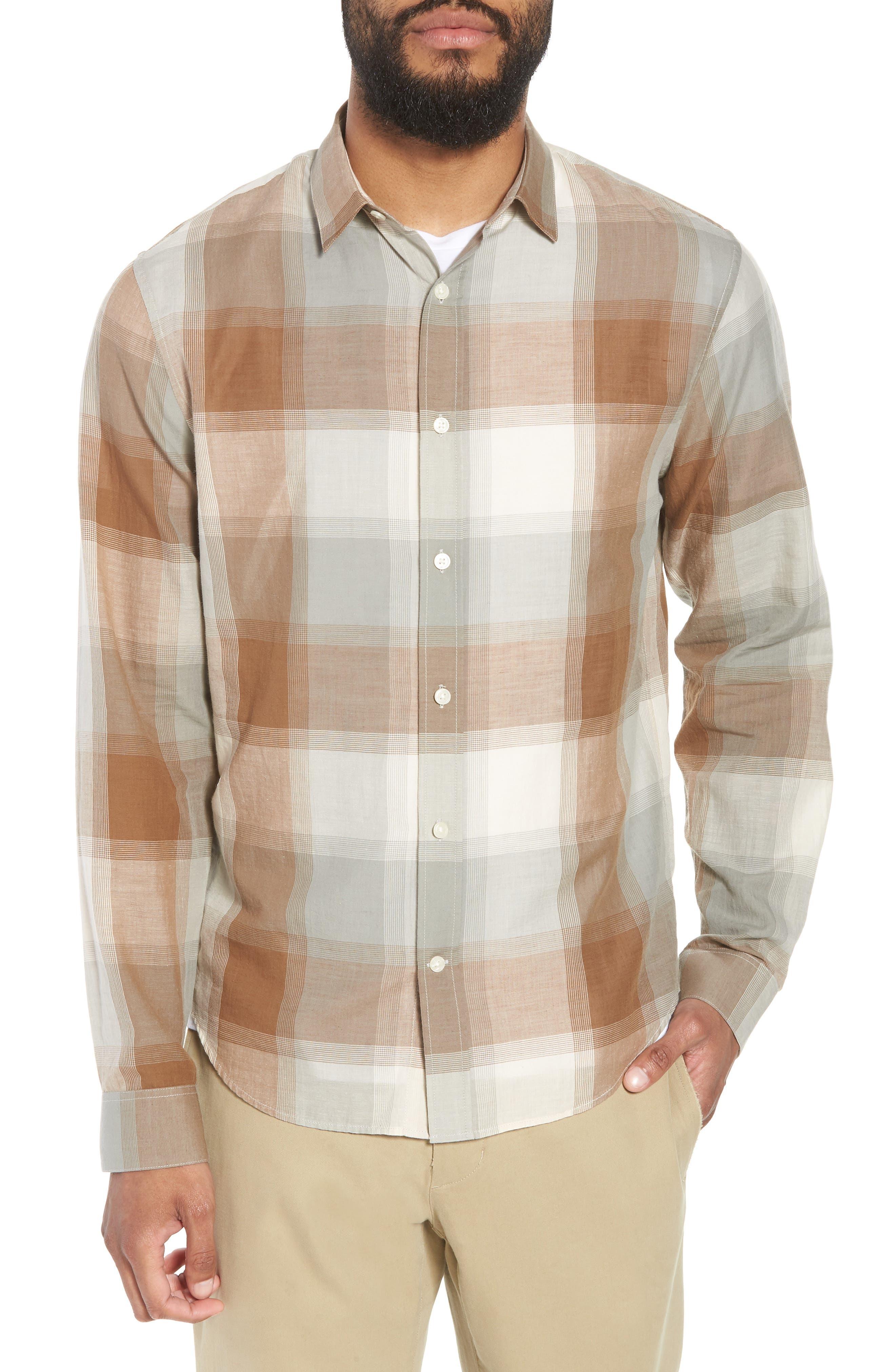 Classic Fit Plaid Sport Shirt,                         Main,                         color, 272