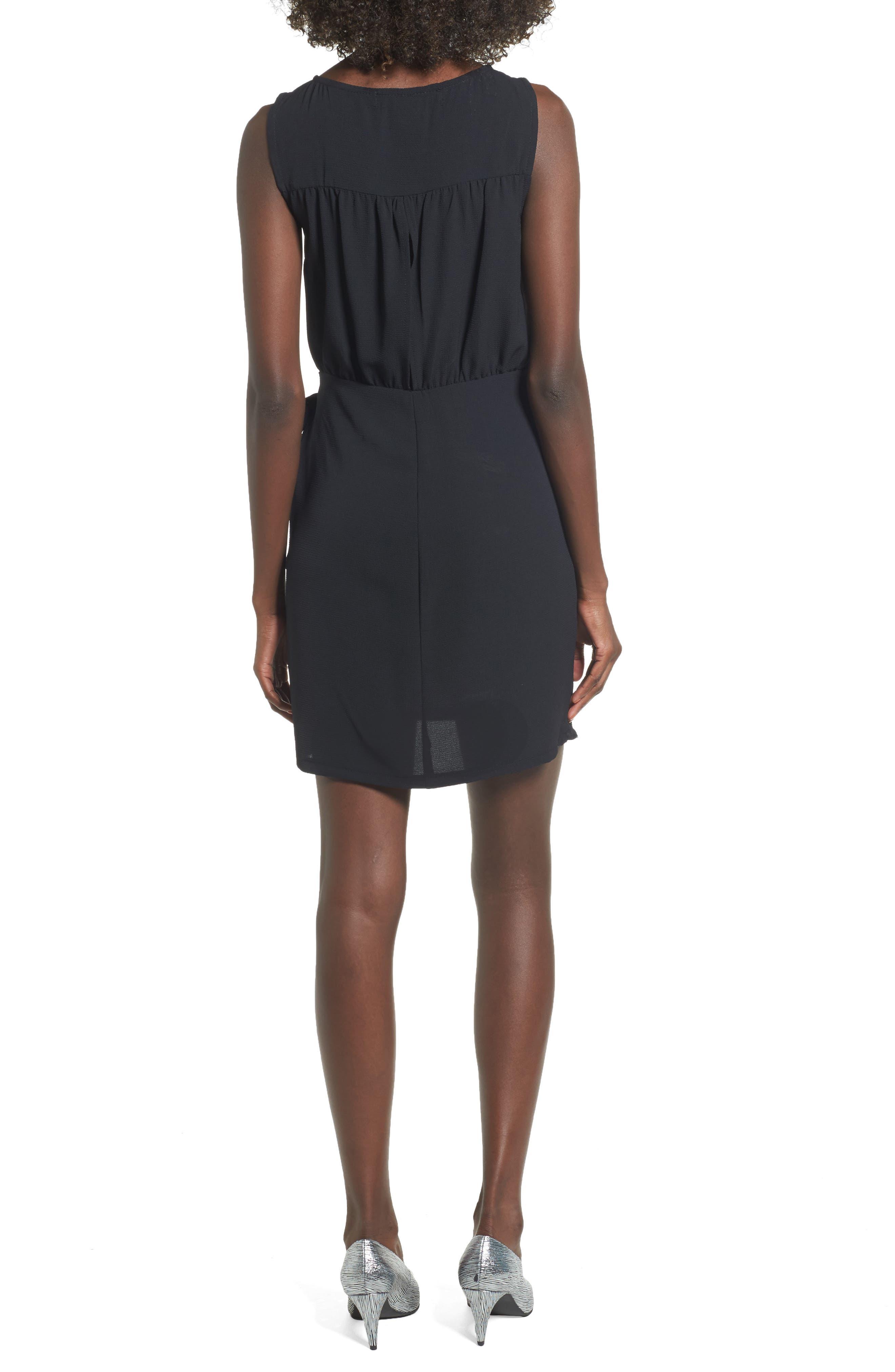 Wrap Skirt Dress,                             Alternate thumbnail 2, color,                             001