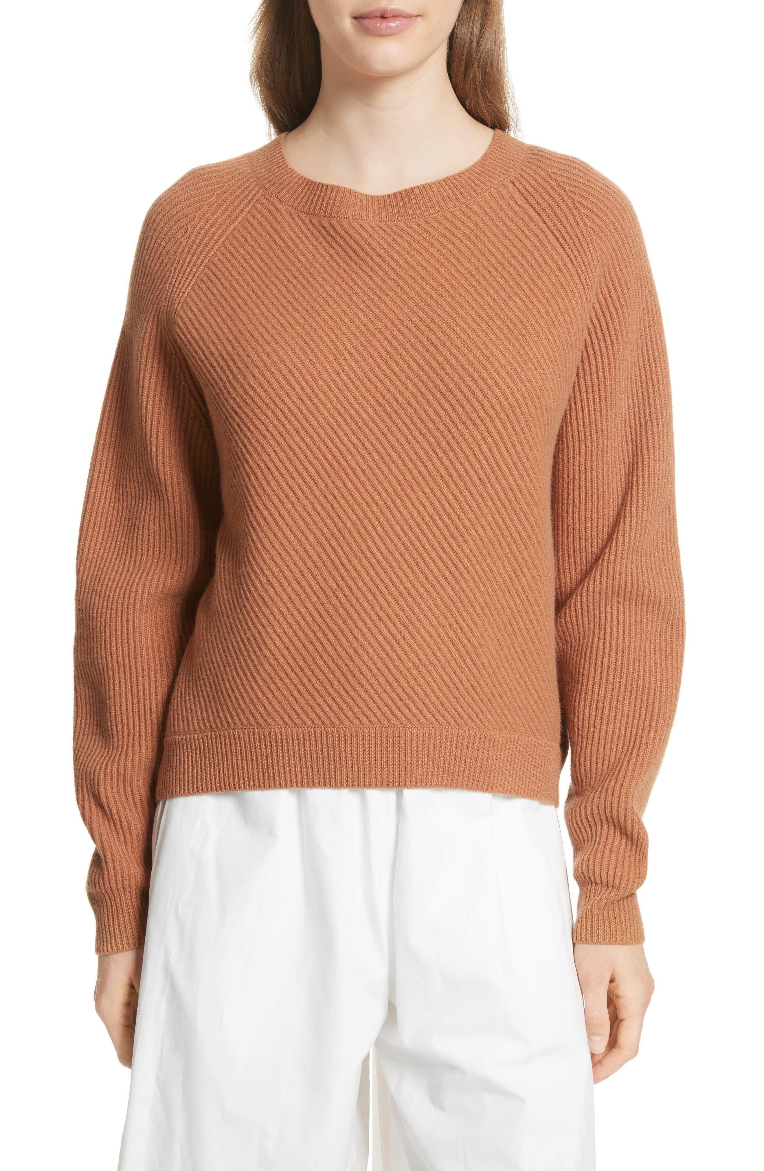 Diagonal Rib Wool & Cashmere Sweater,                             Main thumbnail 3, color,