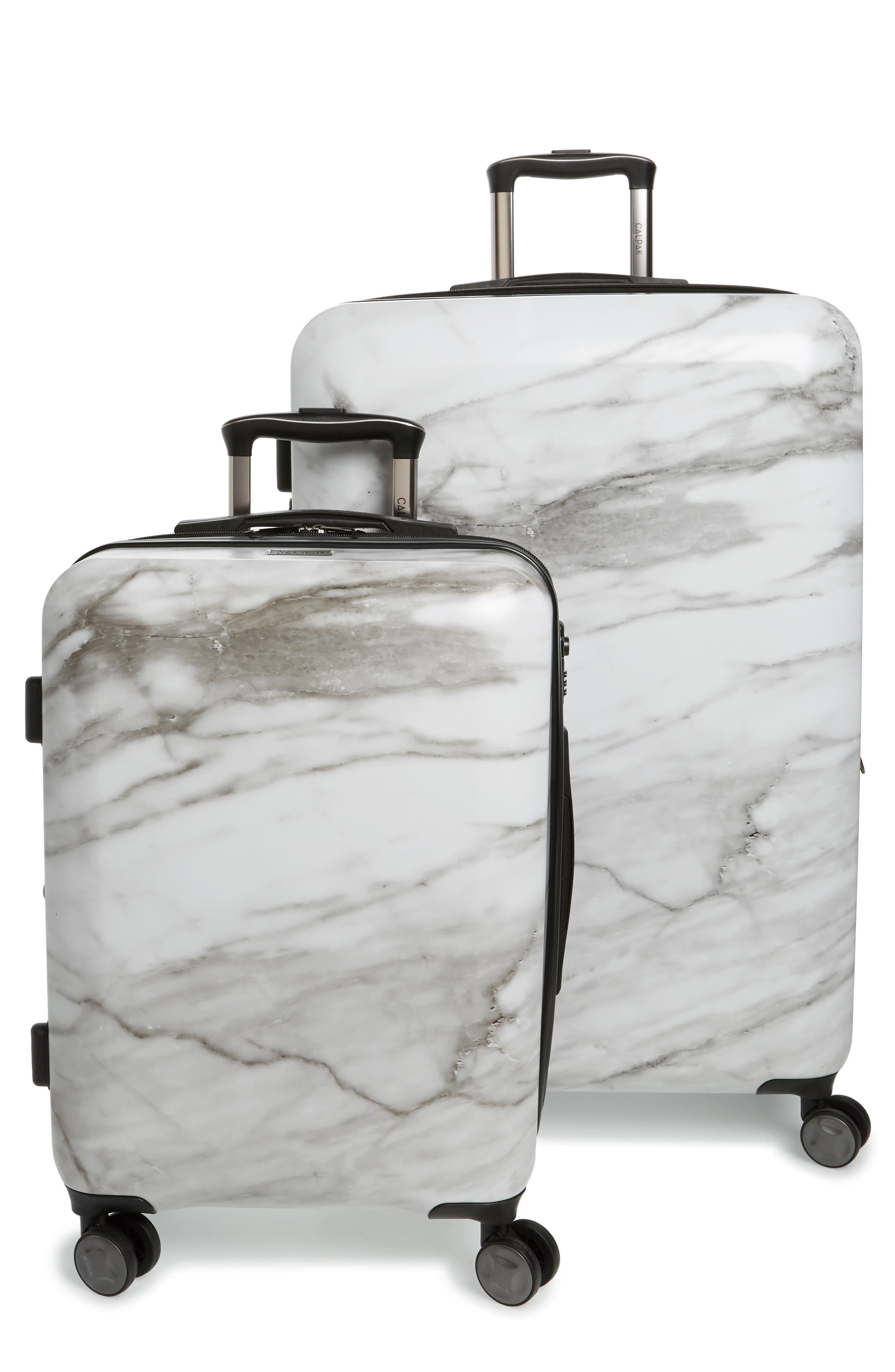 Astyll 22-Inch & 30-Inch Spinner Luggage Set,                         Main,                         color, MILK MARBLE