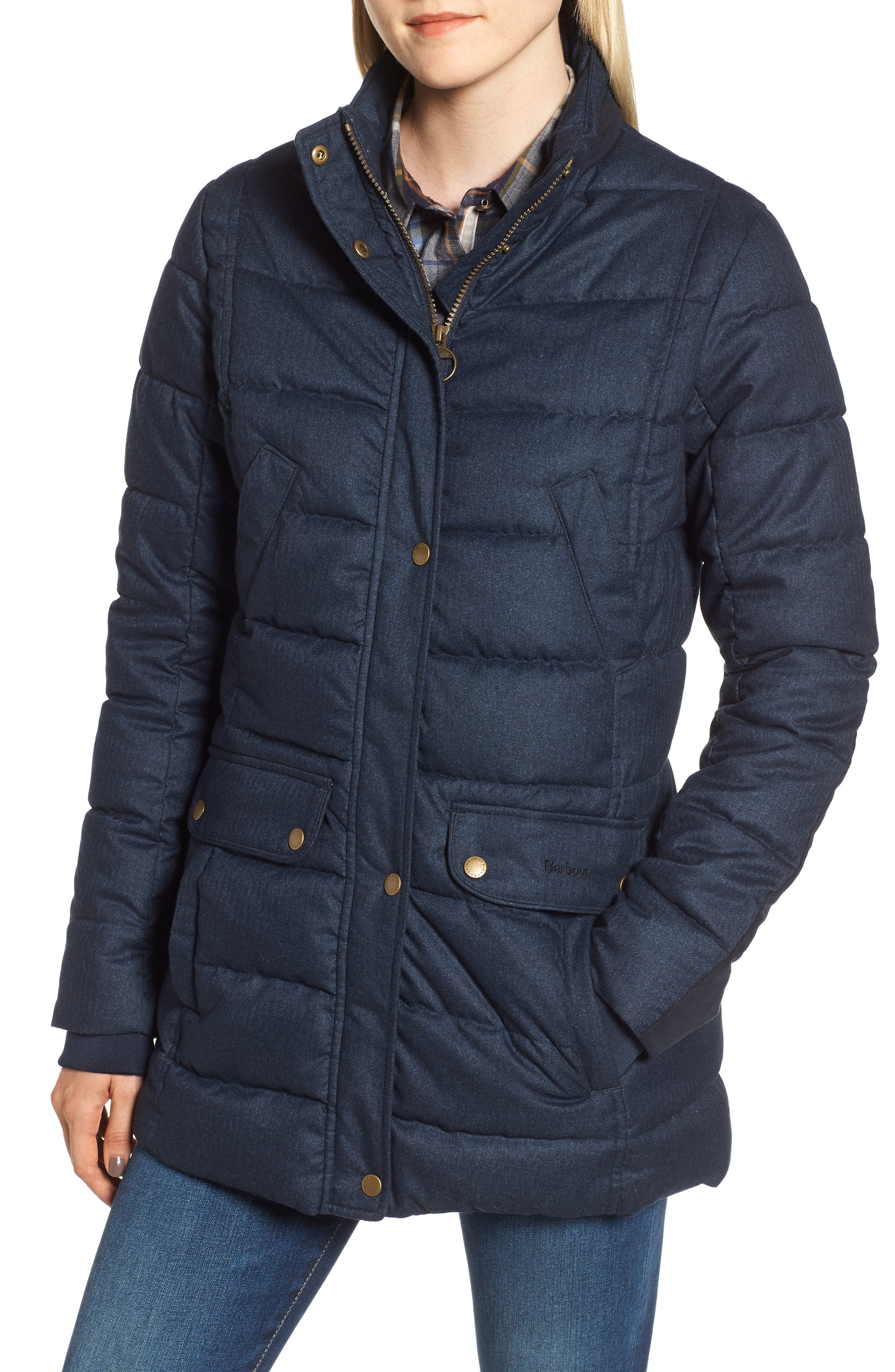 Barbour Goldfinch Quilted Jacket, US / 10 UK - Blue