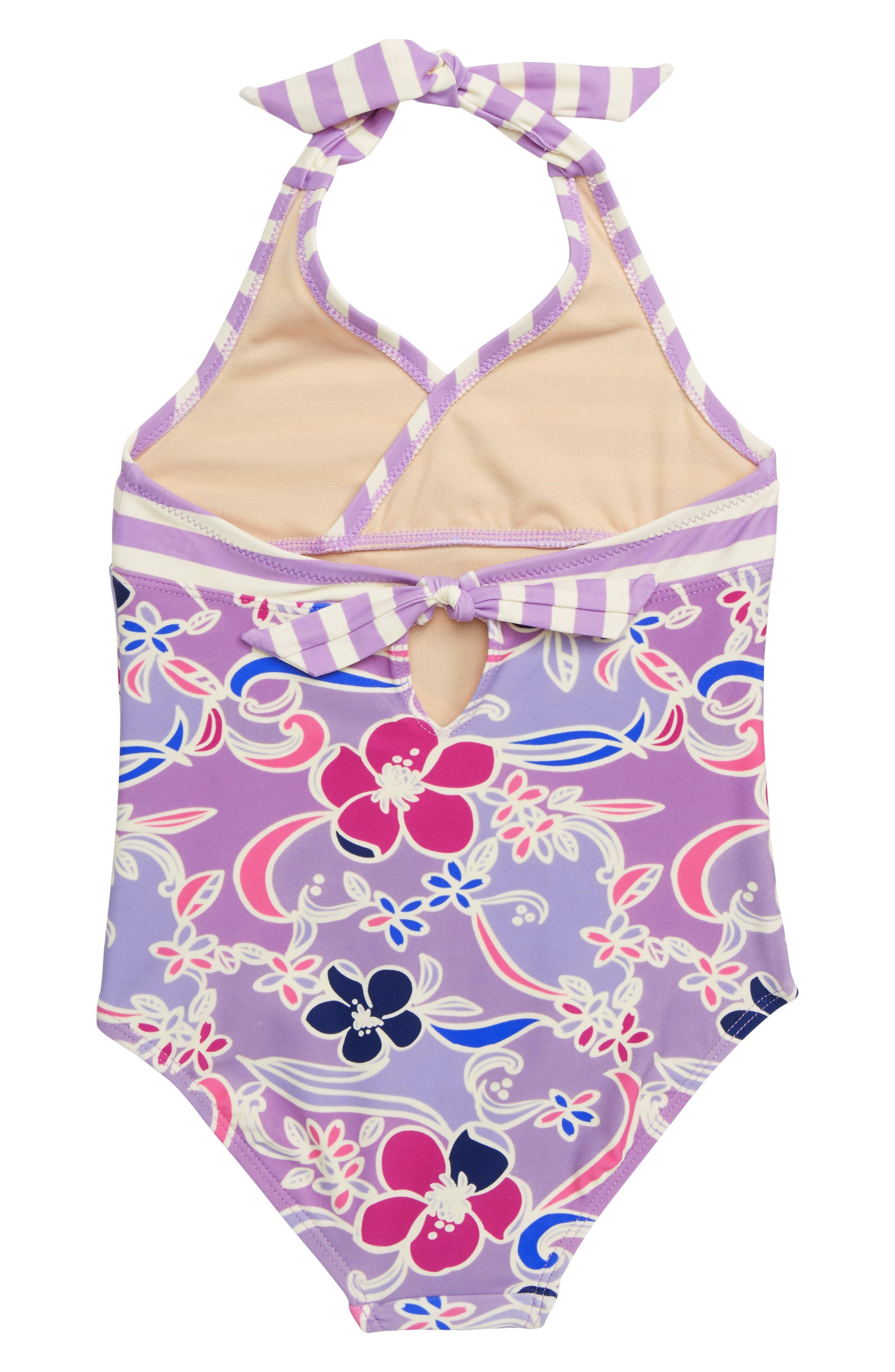 Halter One-Piece Swimsuit,                             Alternate thumbnail 2, color,                             BATIK FLORAL