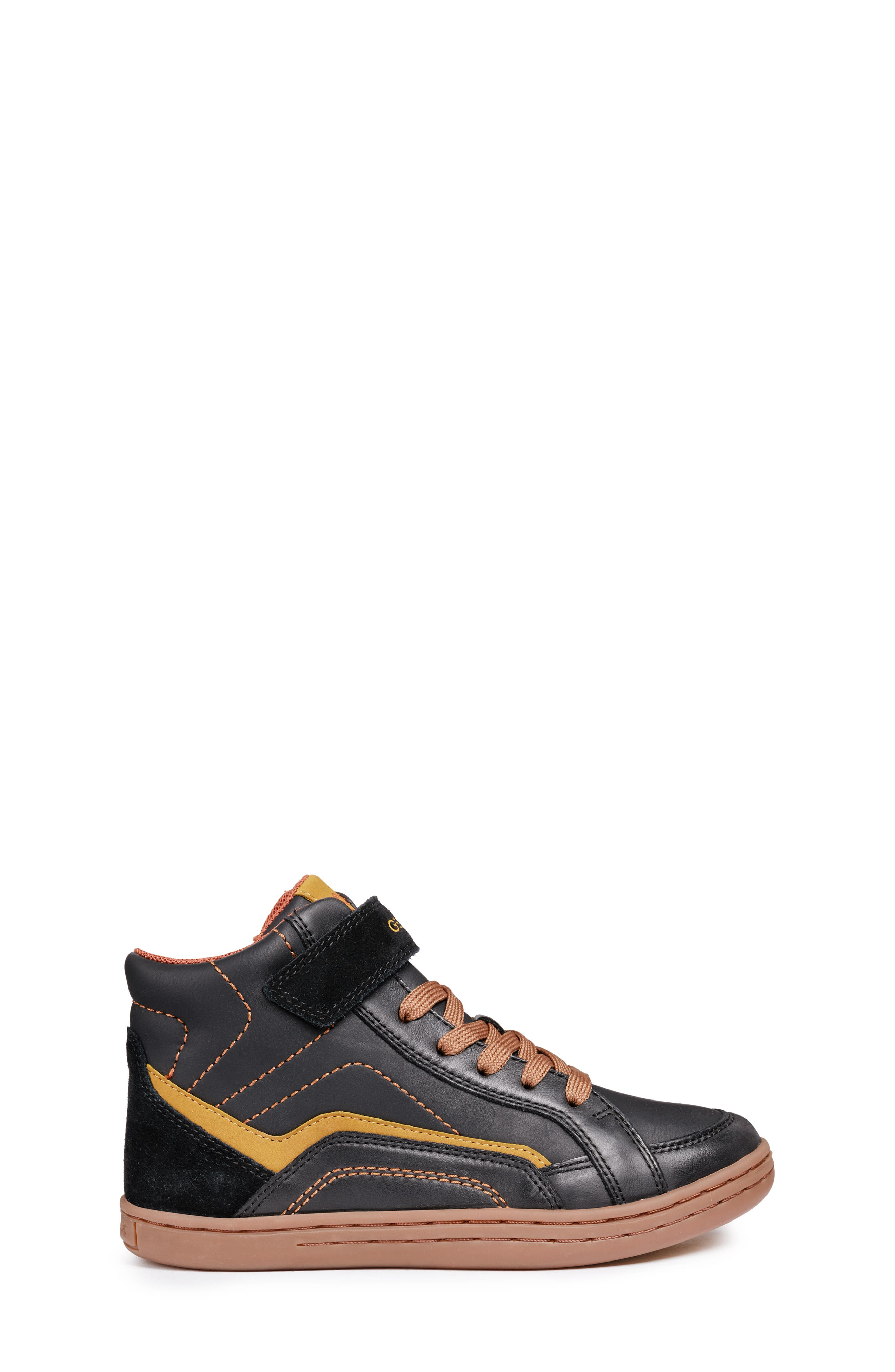Garcia Mid Sneaker,                             Alternate thumbnail 3, color,                             BLACK/ DARK YELLOW