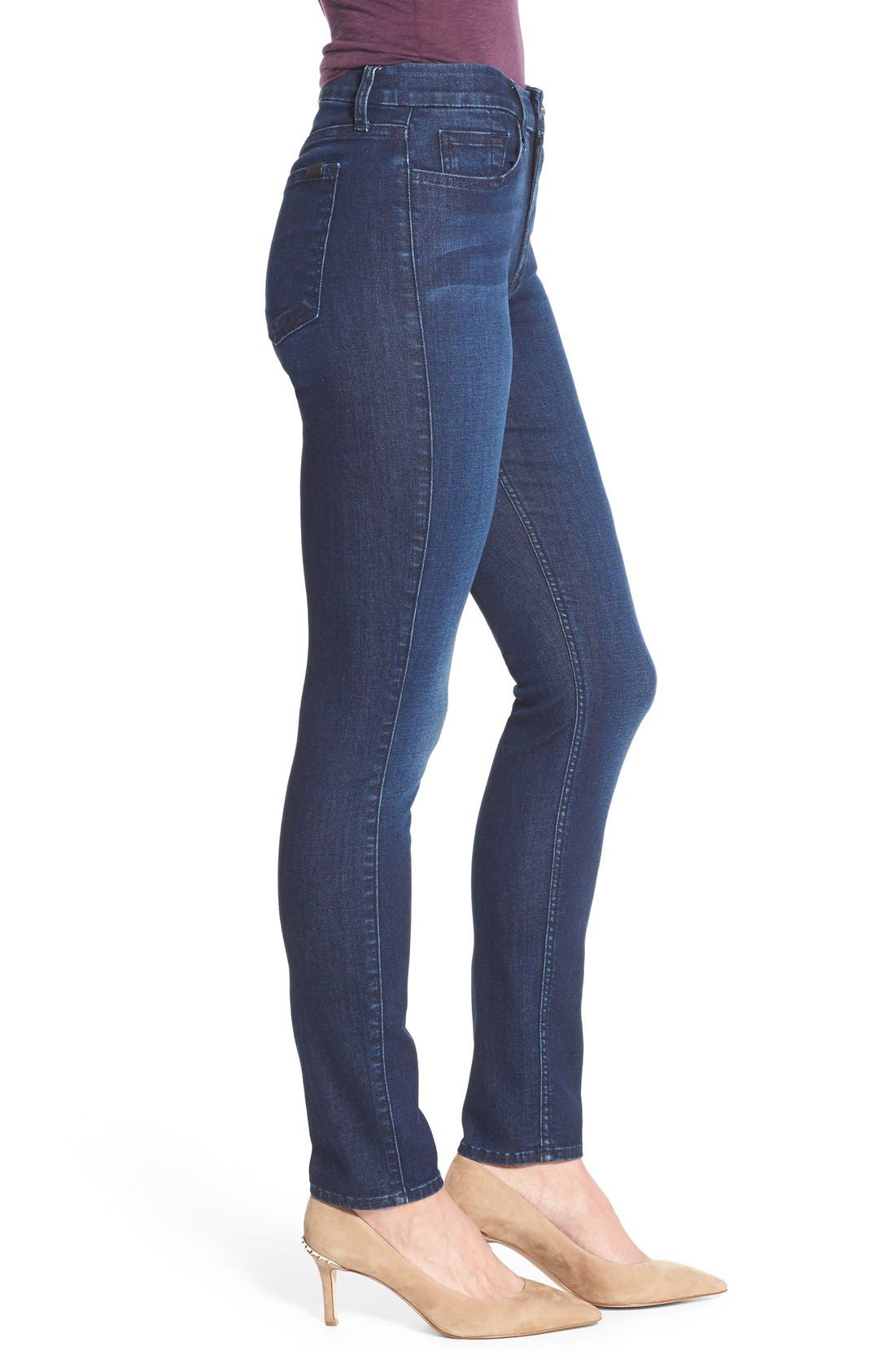 Stretch Skinny Jeans,                             Alternate thumbnail 4, color,                             400
