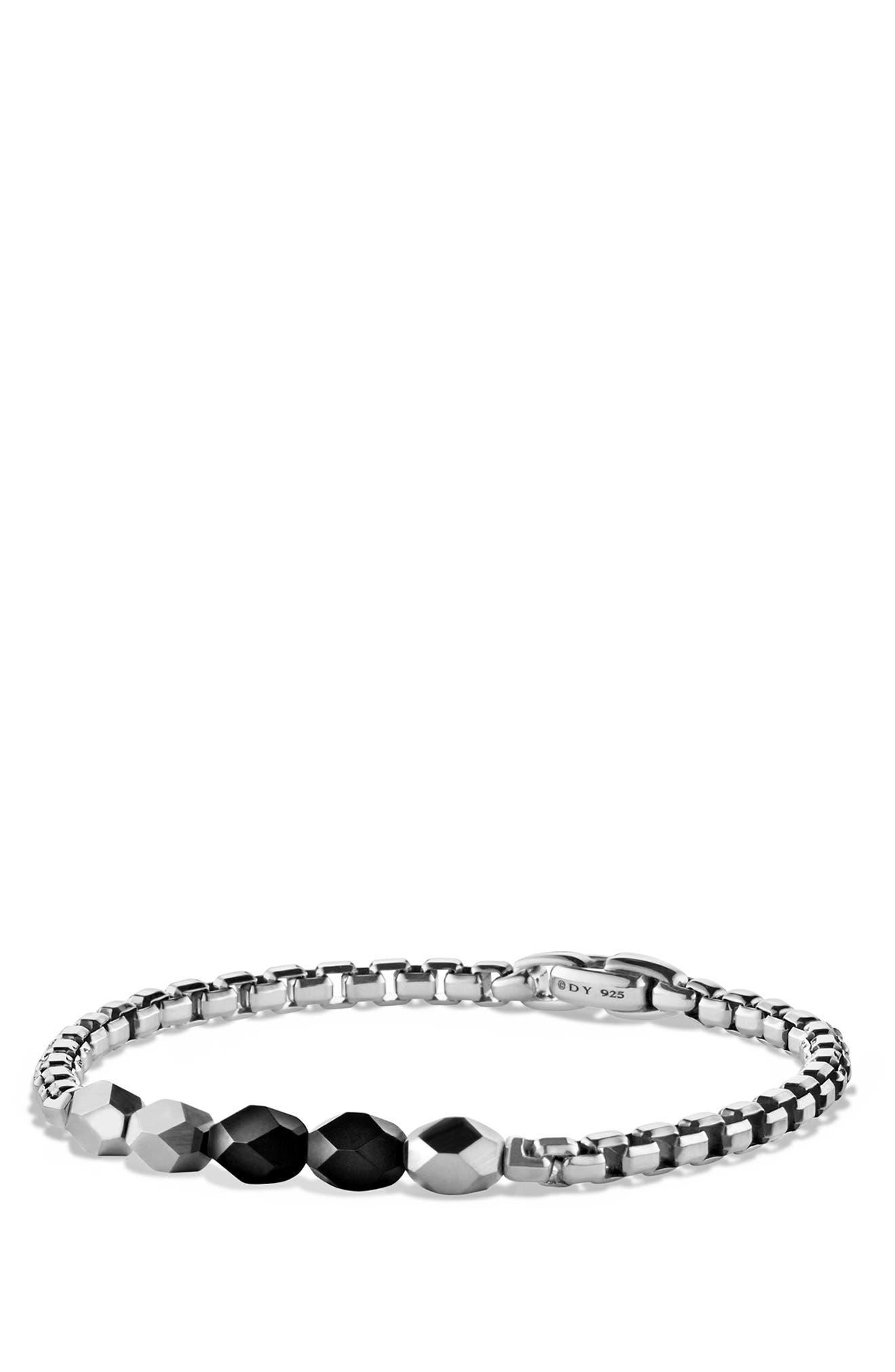 'Faceted' Metal Bracelet,                             Alternate thumbnail 4, color,                             002