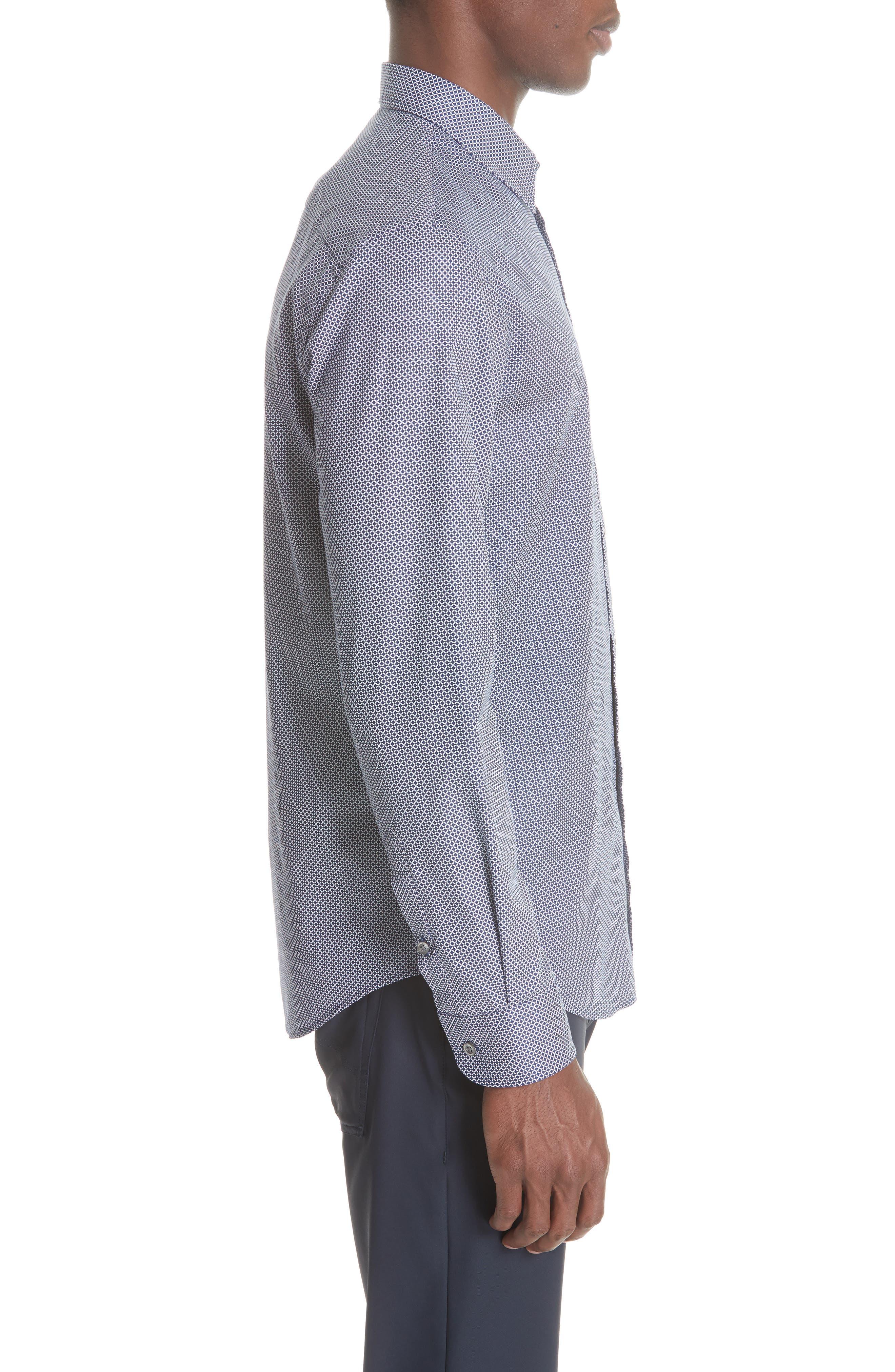 Regular Fit Sport Shirt,                             Alternate thumbnail 3, color,                             BLUE