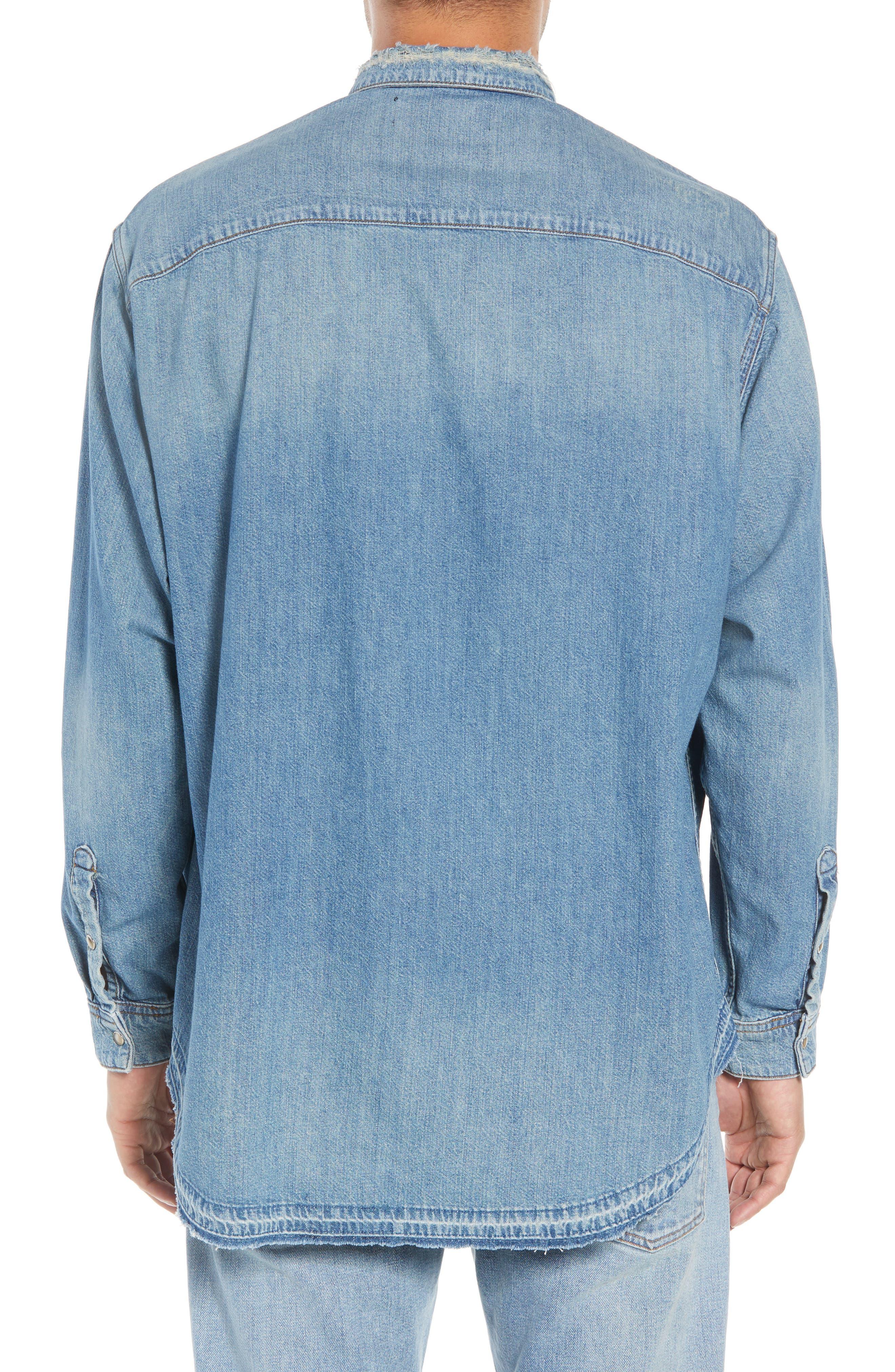 Denim Classic Fit Western Shirt,                             Alternate thumbnail 3, color,                             425