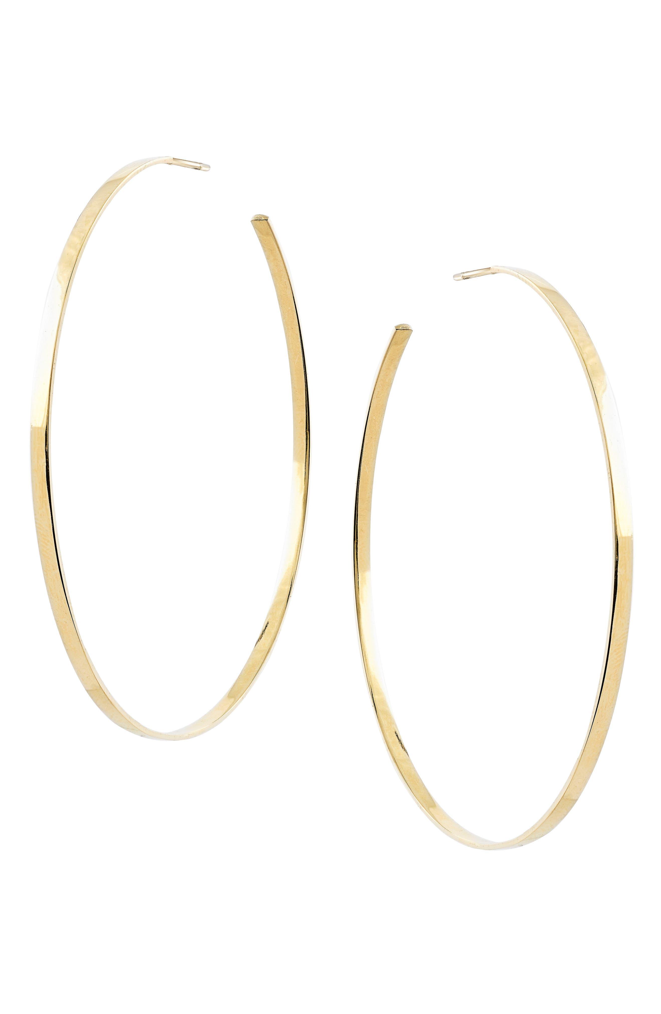 LANA JEWELRY Sunrise Hoop Earrings, Main, color, YELLOW GOLD