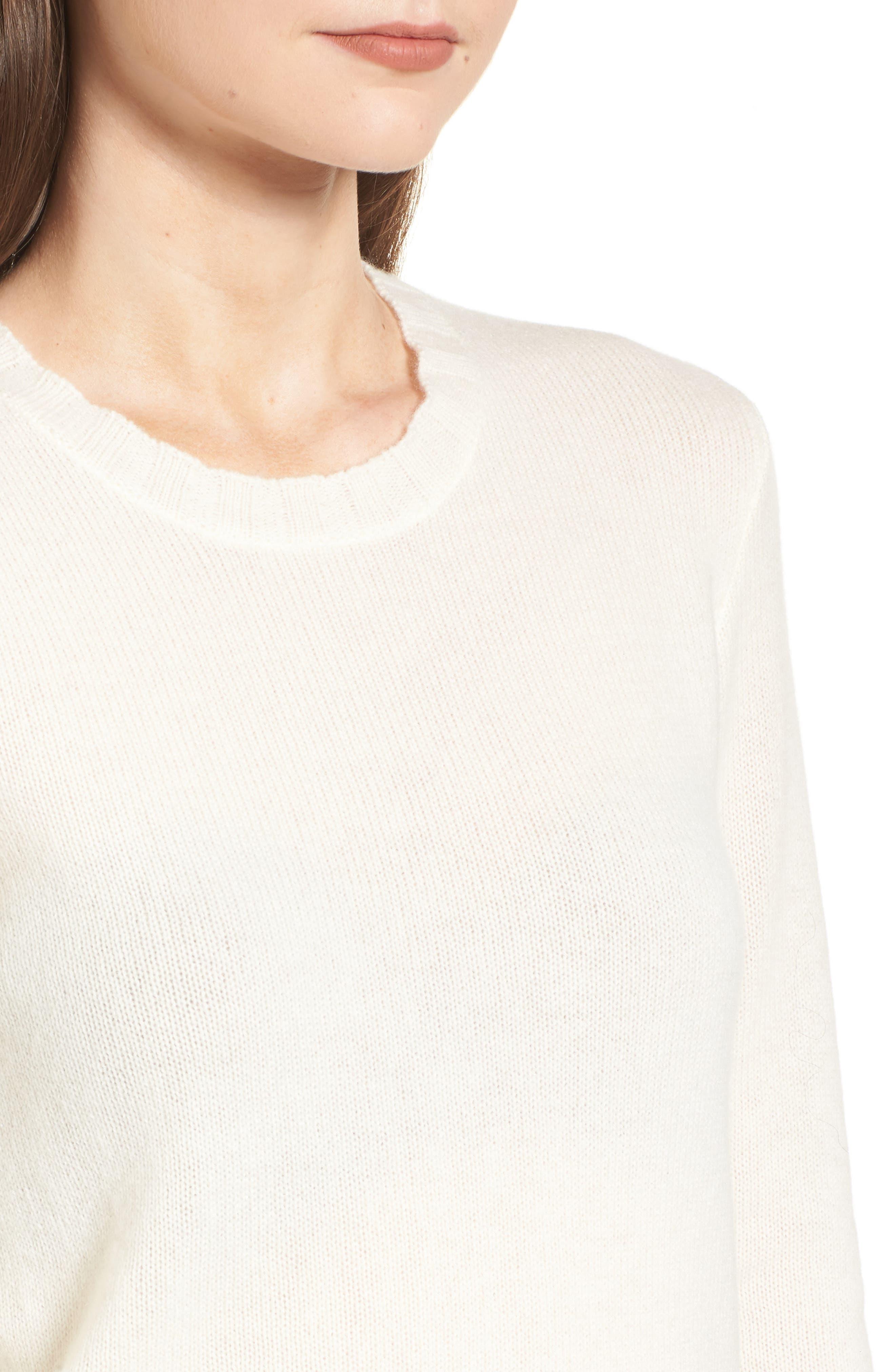 Cashmere Crewneck Sweater,                             Alternate thumbnail 4, color,                             902