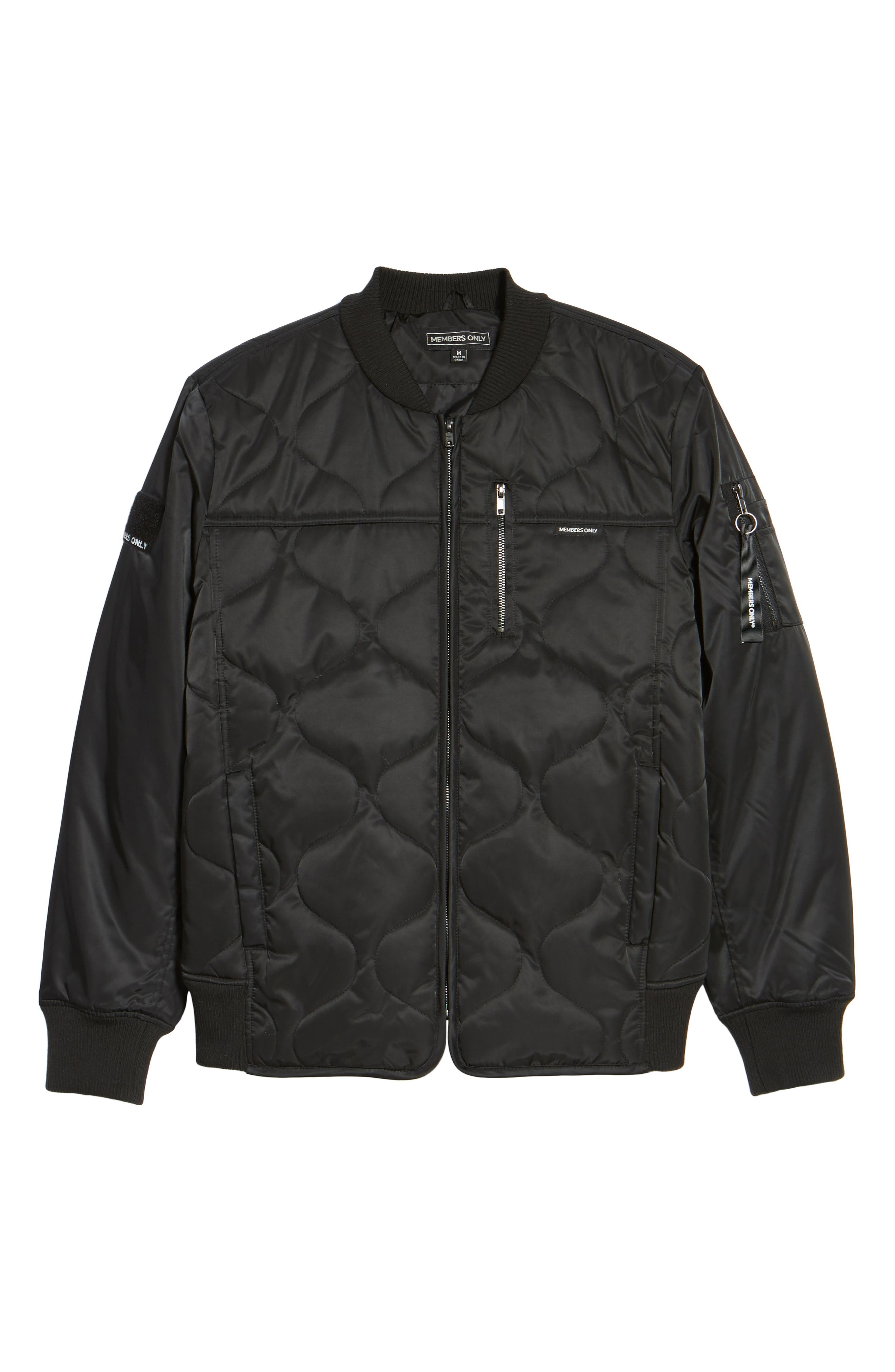 Quilted Bomber Jacket,                             Alternate thumbnail 5, color,                             001