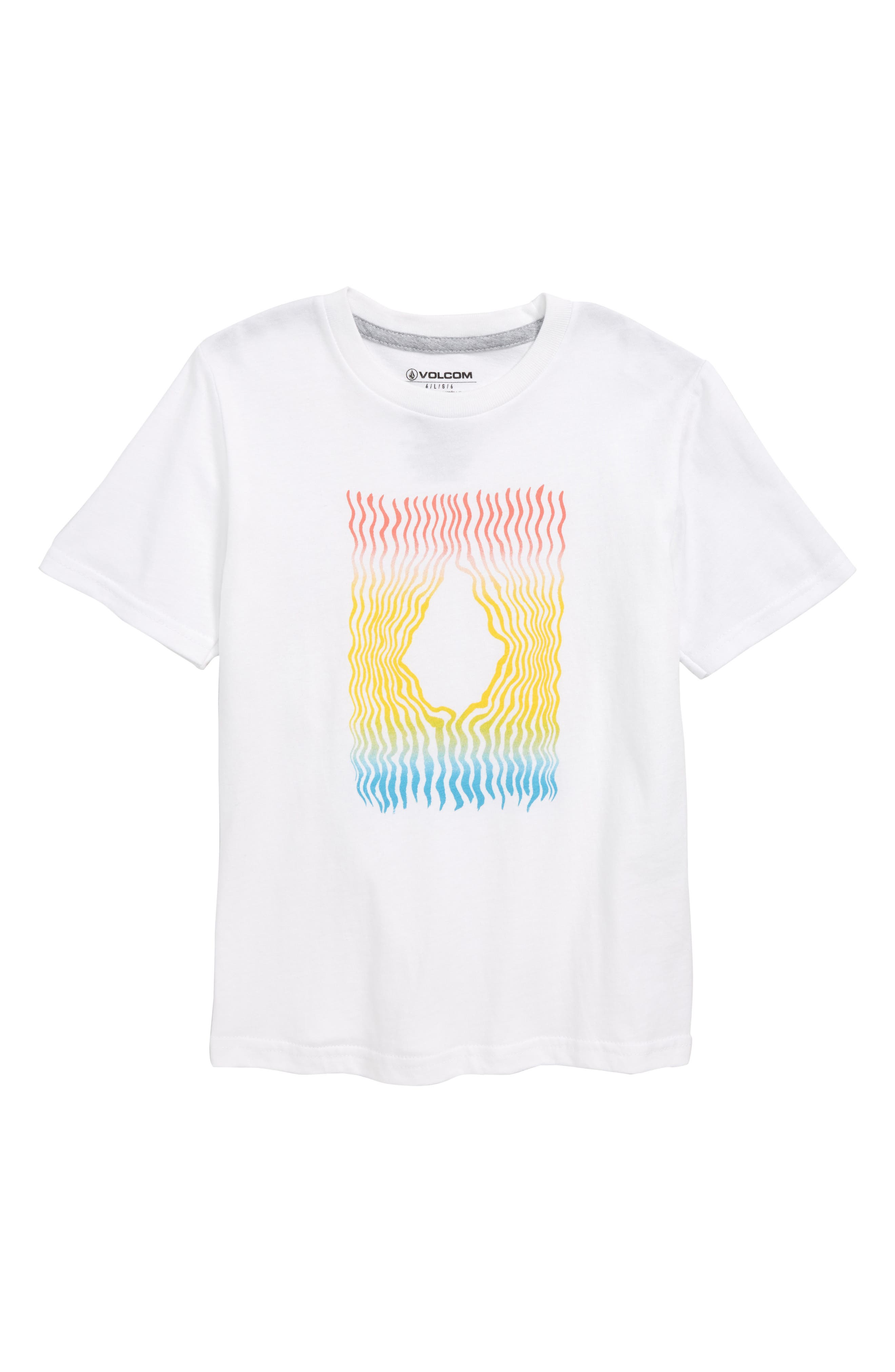 Wiggly Stone Graphic T-Shirt,                             Main thumbnail 1, color,                             WHITE