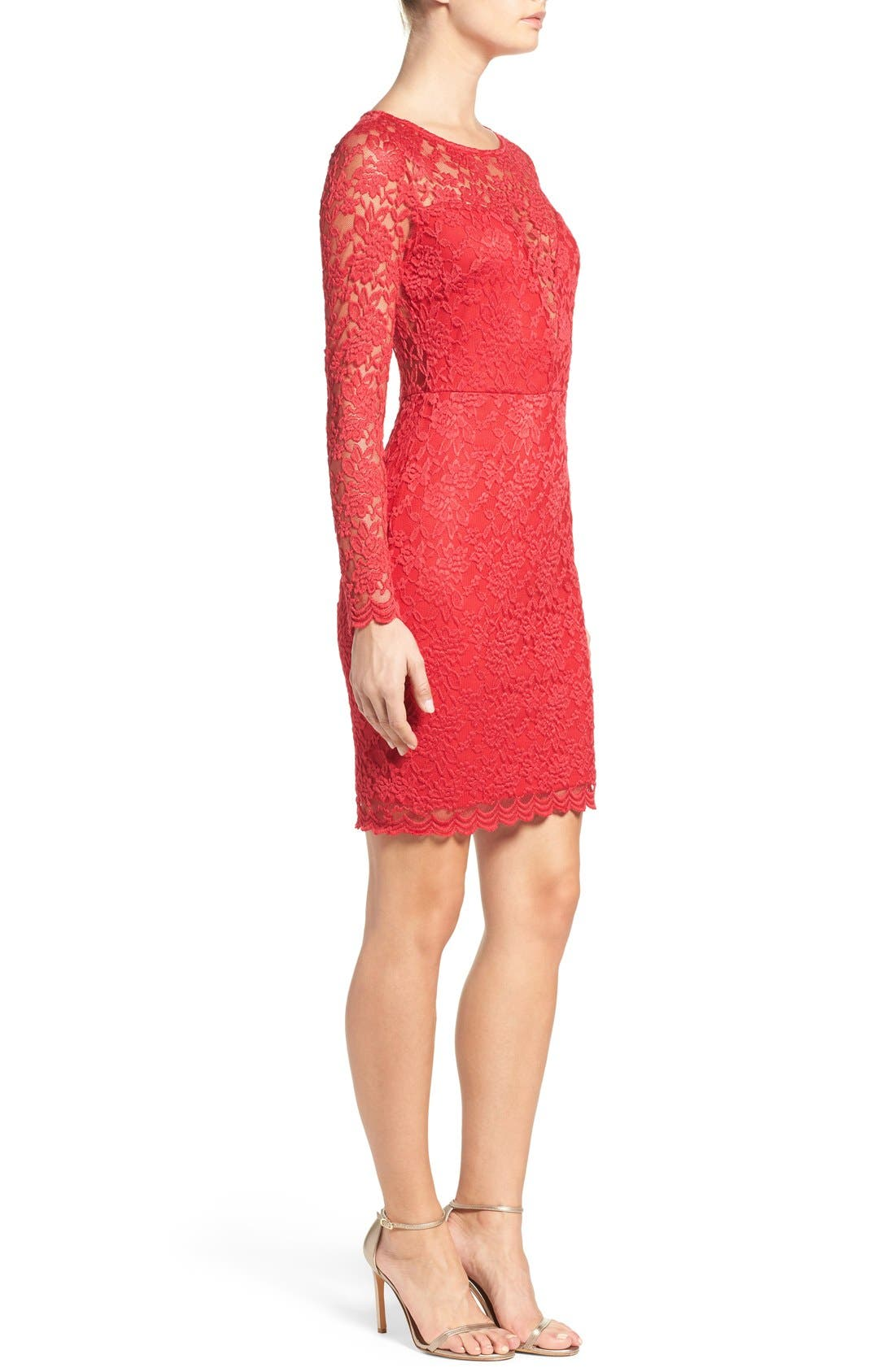 Lace Body-Con Dress,                             Alternate thumbnail 2, color,                             610