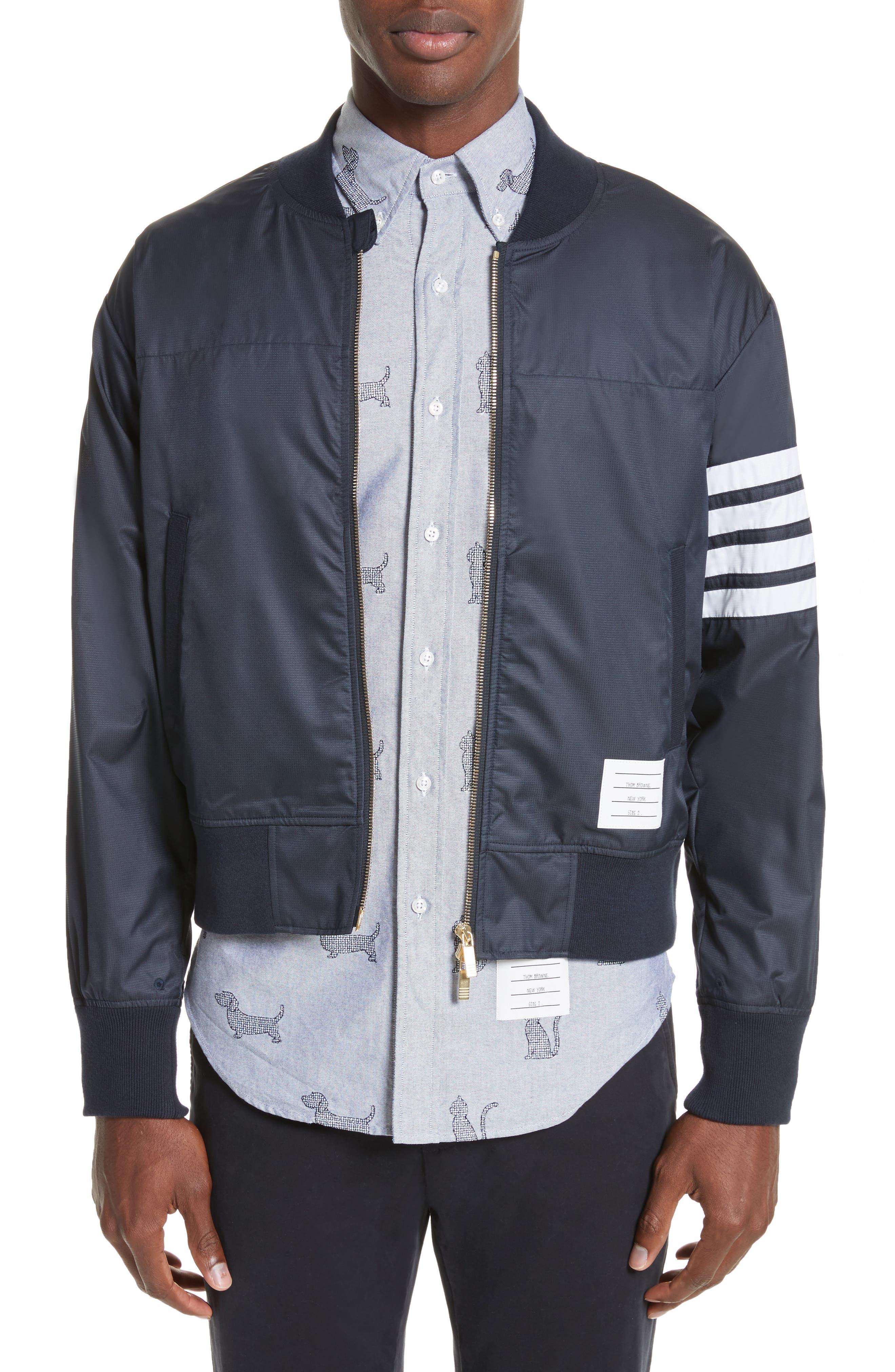 4 Bar Ripstop Bomber Jacket,                         Main,                         color,