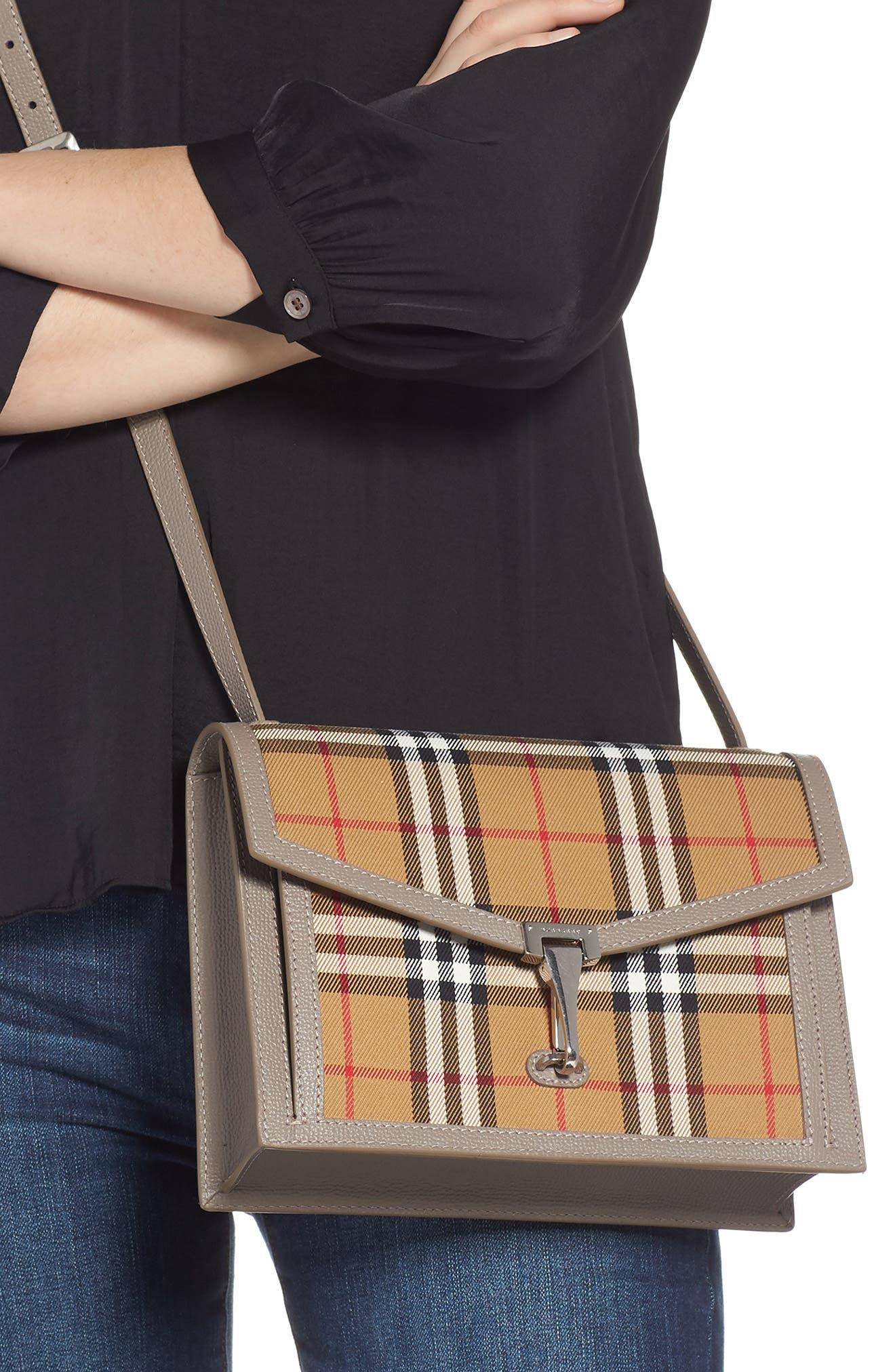 Small Macken Vintage Check Crossbody Bag,                             Alternate thumbnail 2, color,                             TAUPE BROWN