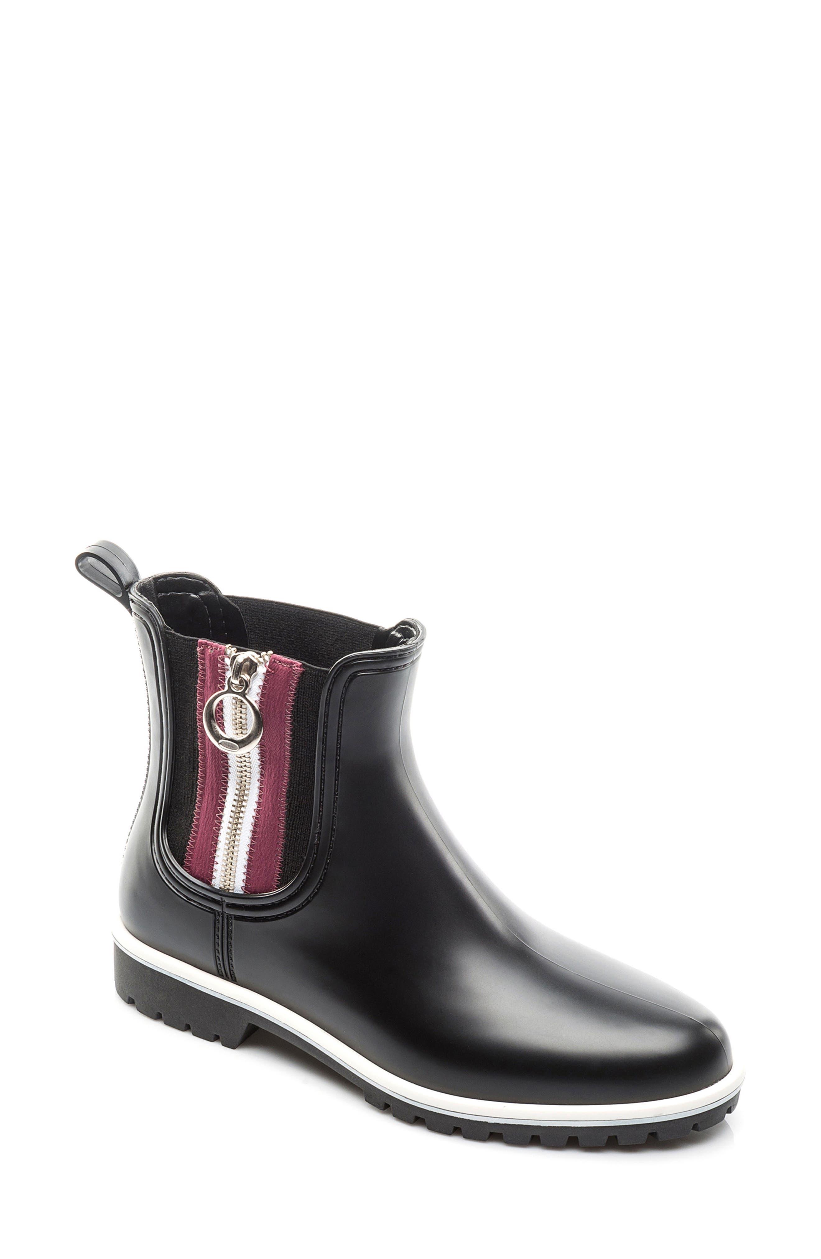 Zip Rain Boot,                             Main thumbnail 1, color,                             001