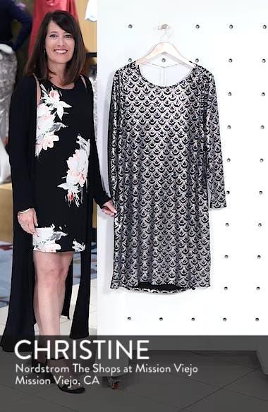 Glitter Knit Shift Dress, sales video thumbnail