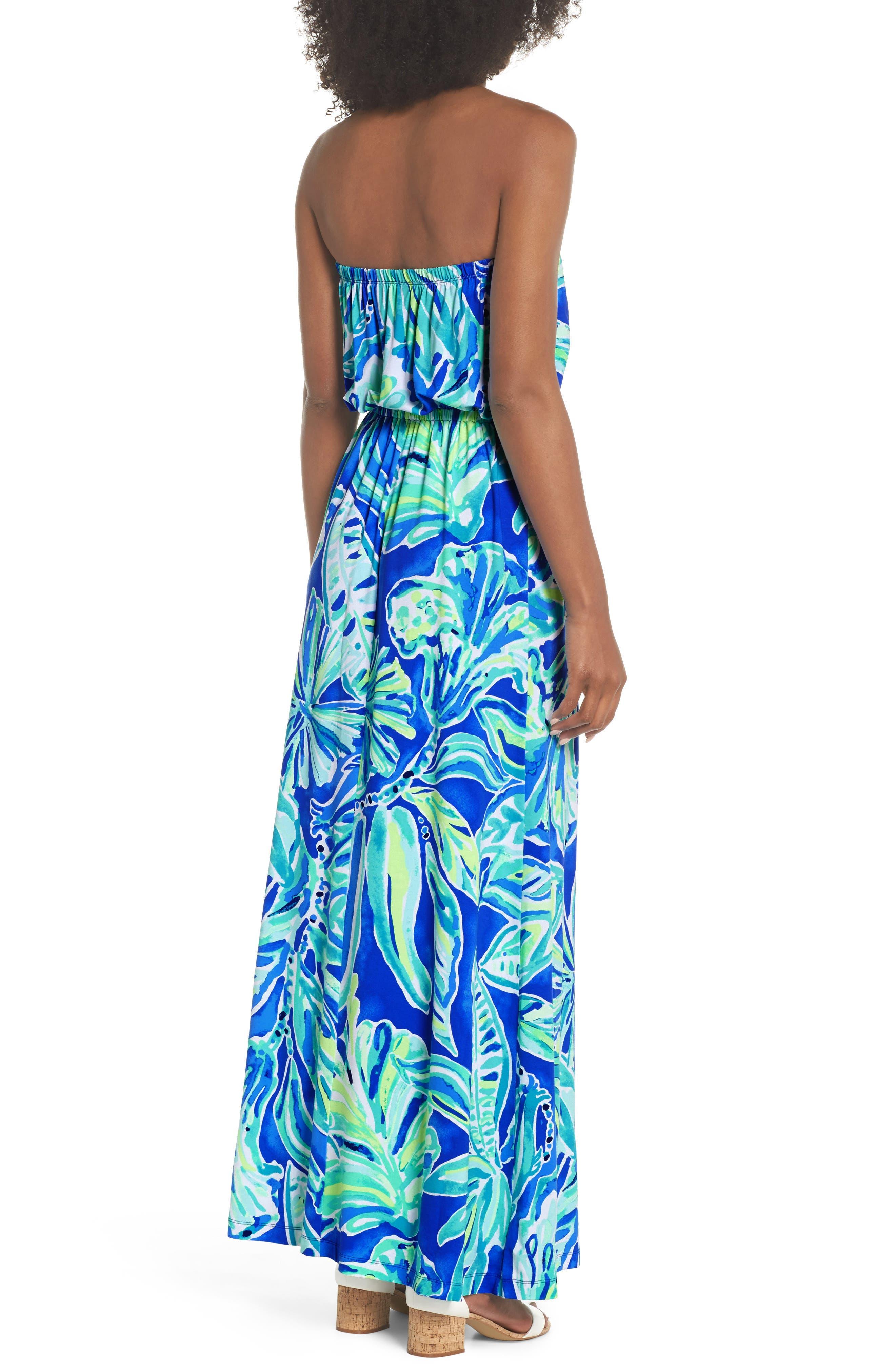 Marlisa Strapless Maxi Dress,                             Alternate thumbnail 2, color,                             440