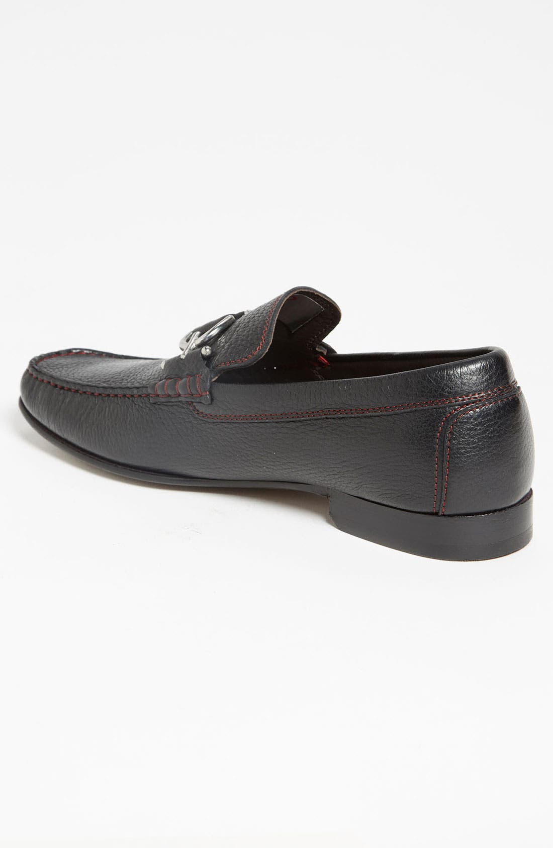 Dacio II Loafer,                             Alternate thumbnail 4, color,                             BLACK/ BLACK LEATHER