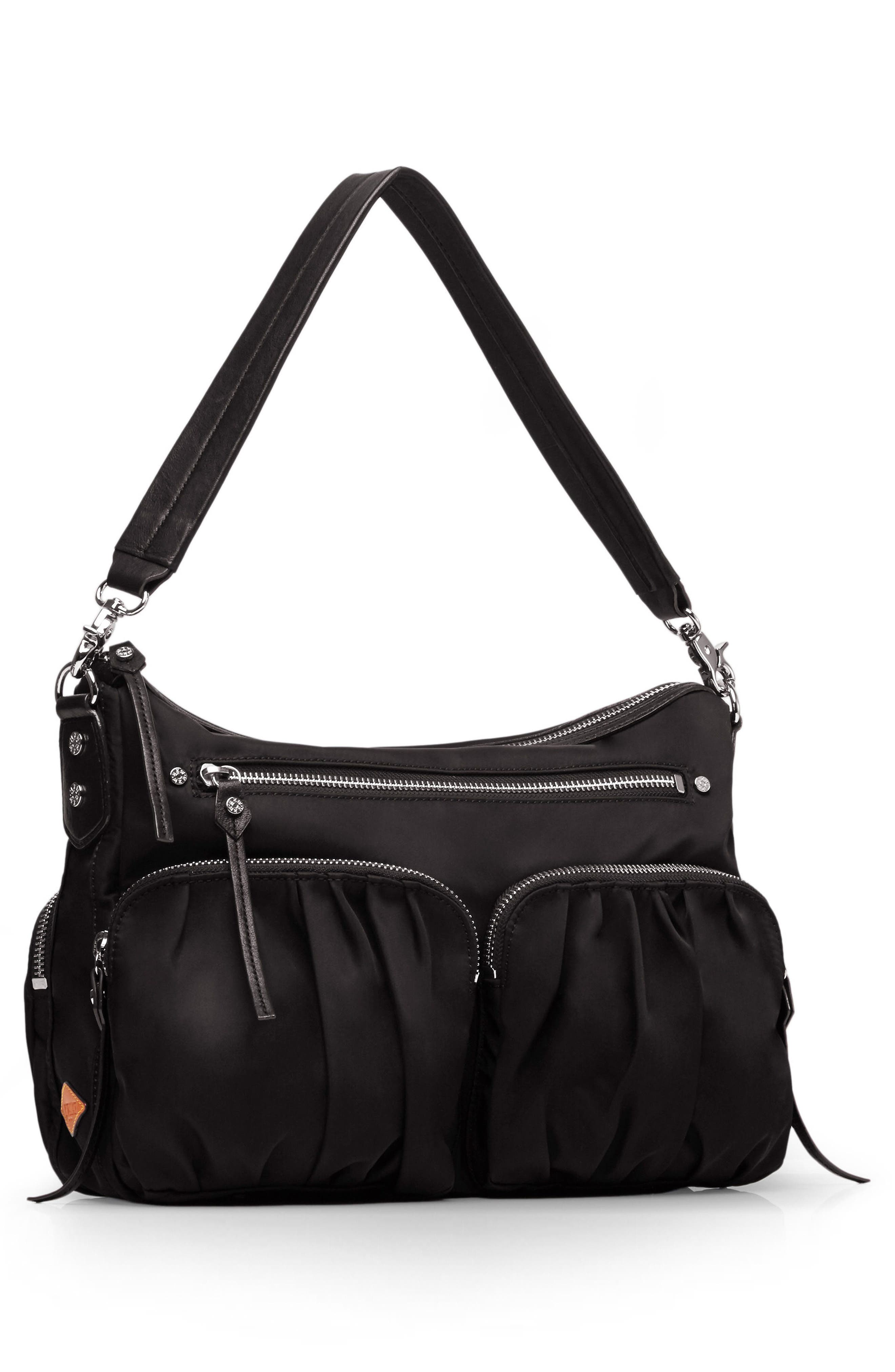 'Hayley' Bedford Nylon Handbag,                             Alternate thumbnail 7, color,                             001
