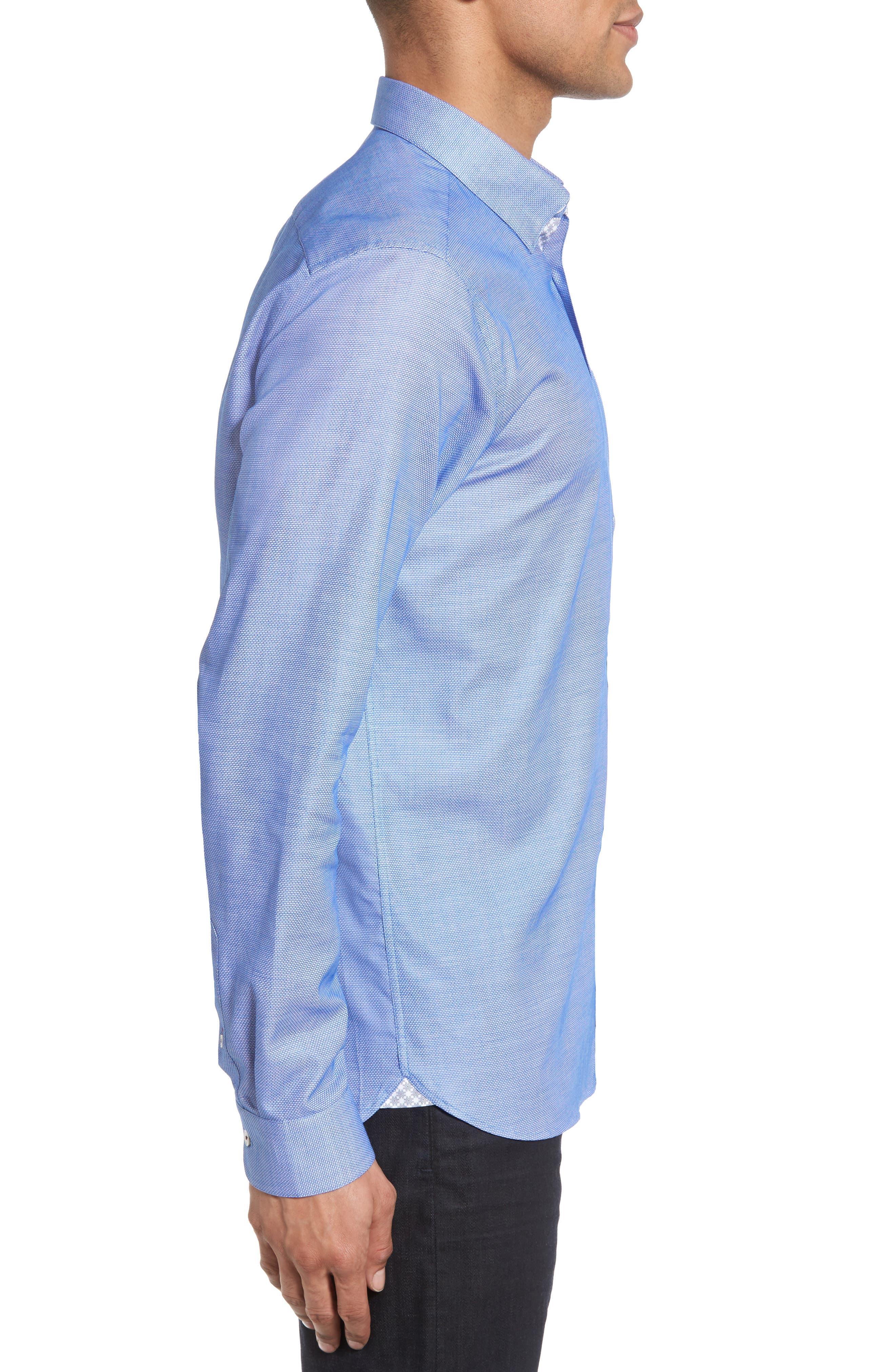 Nordlux Modern Slim Fit Stretch Cotton Sport Shirt,                             Alternate thumbnail 14, color,