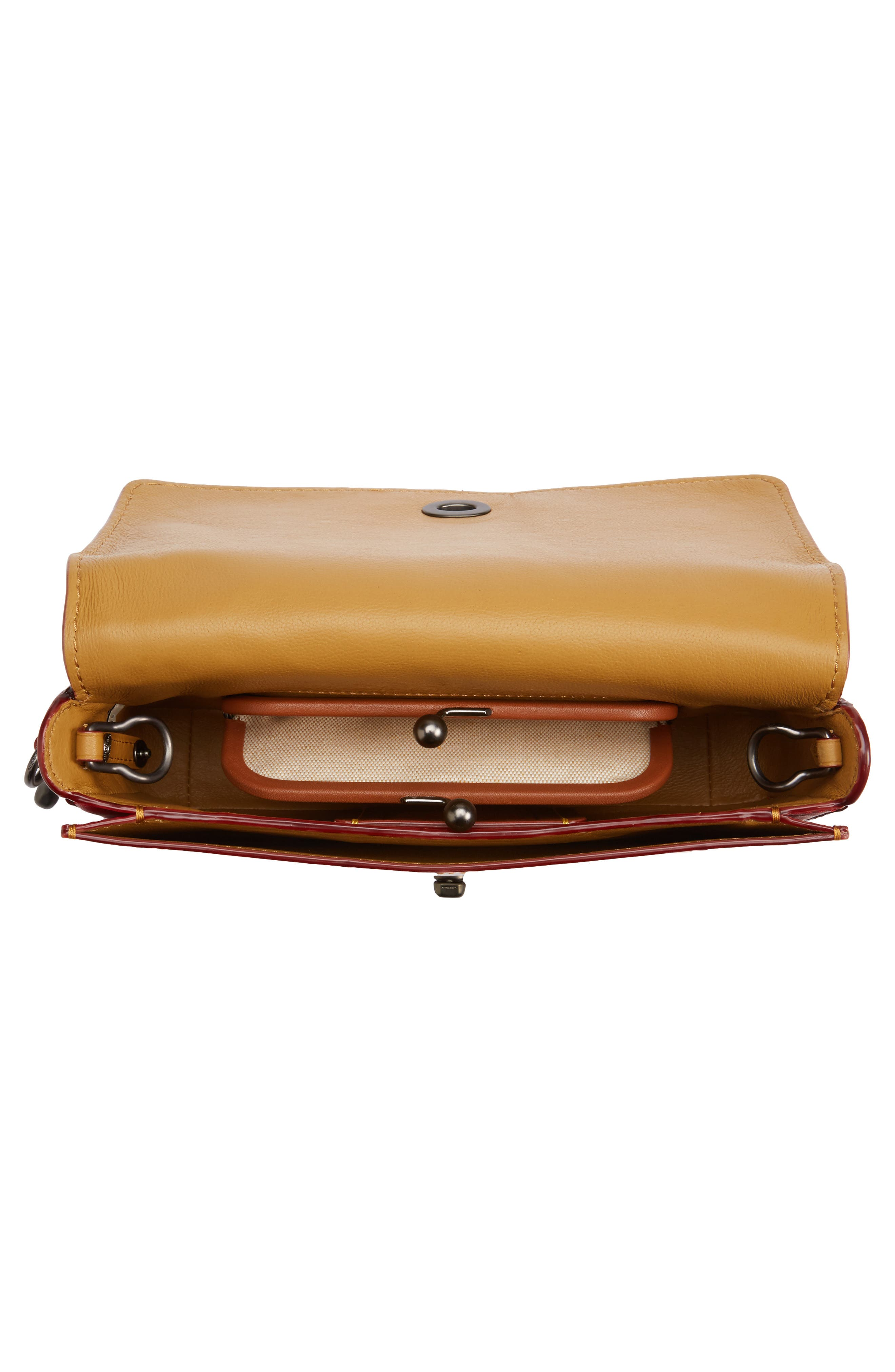 Cherries Dinky Leather Crossbody Bag,                             Alternate thumbnail 4, color,                             250