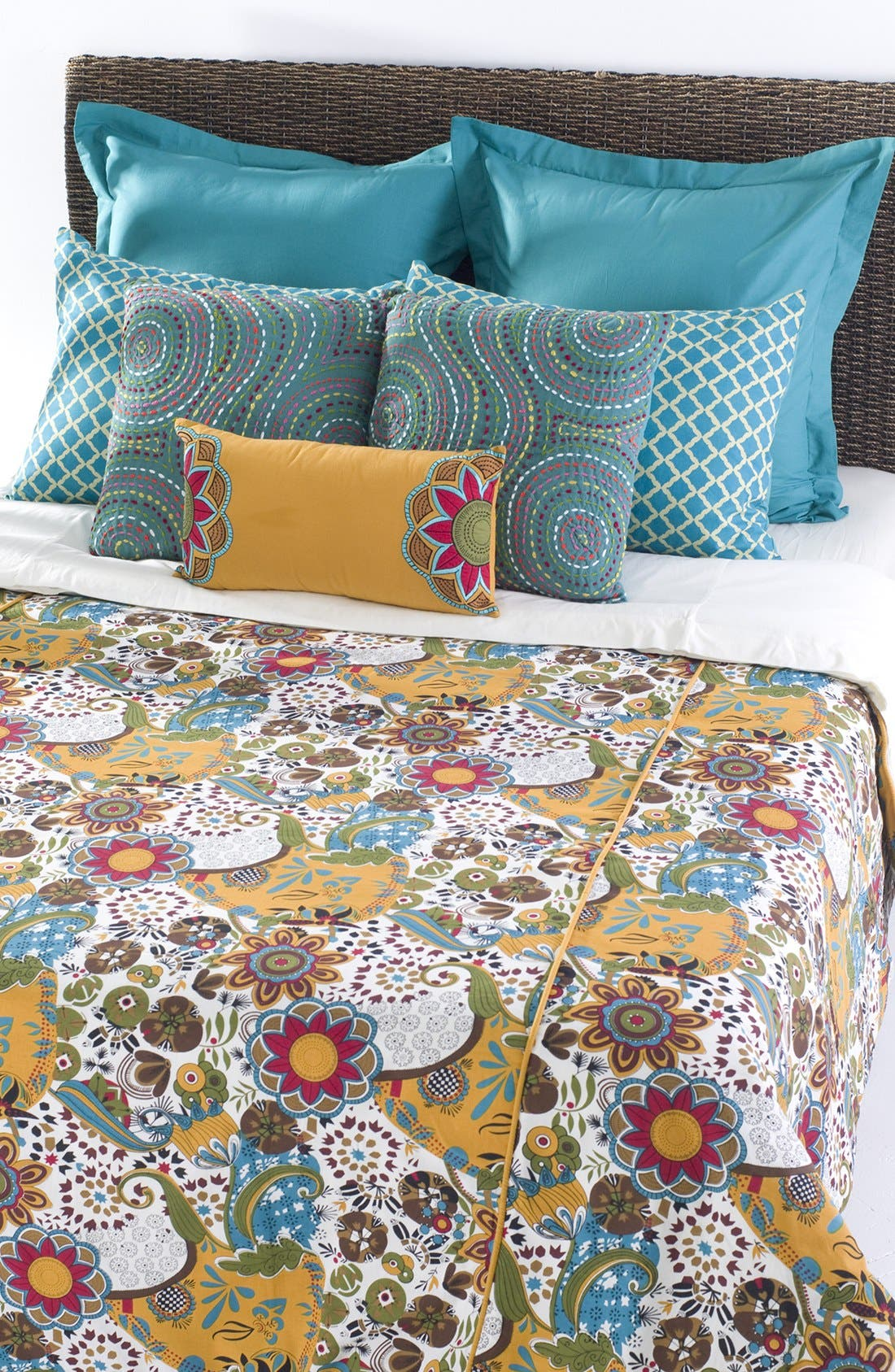Carmen Duvet Cover & Sham Set,                             Alternate thumbnail 3, color,                             440