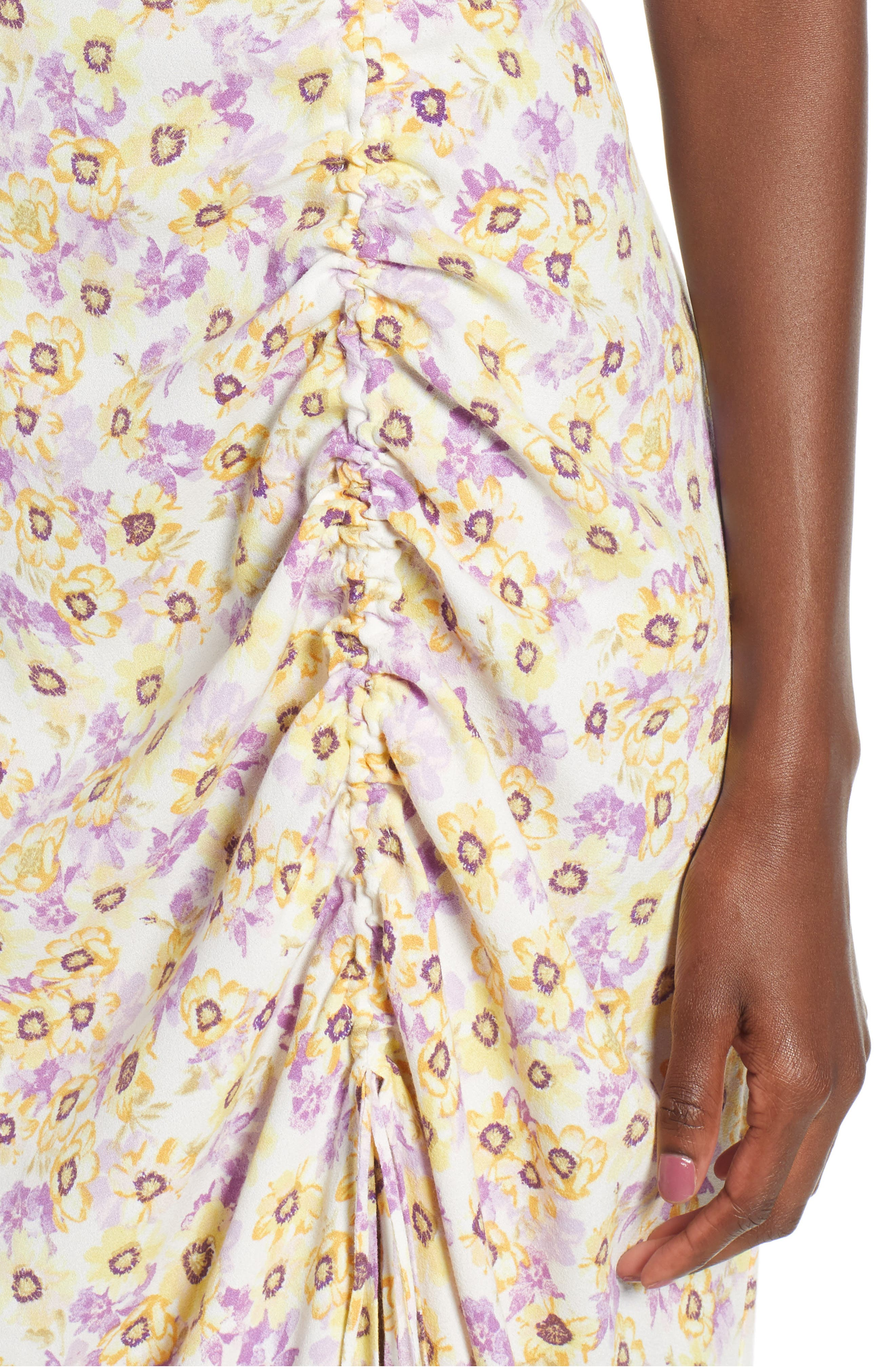 Favor Ruched Midi Dress,                             Alternate thumbnail 9, color,