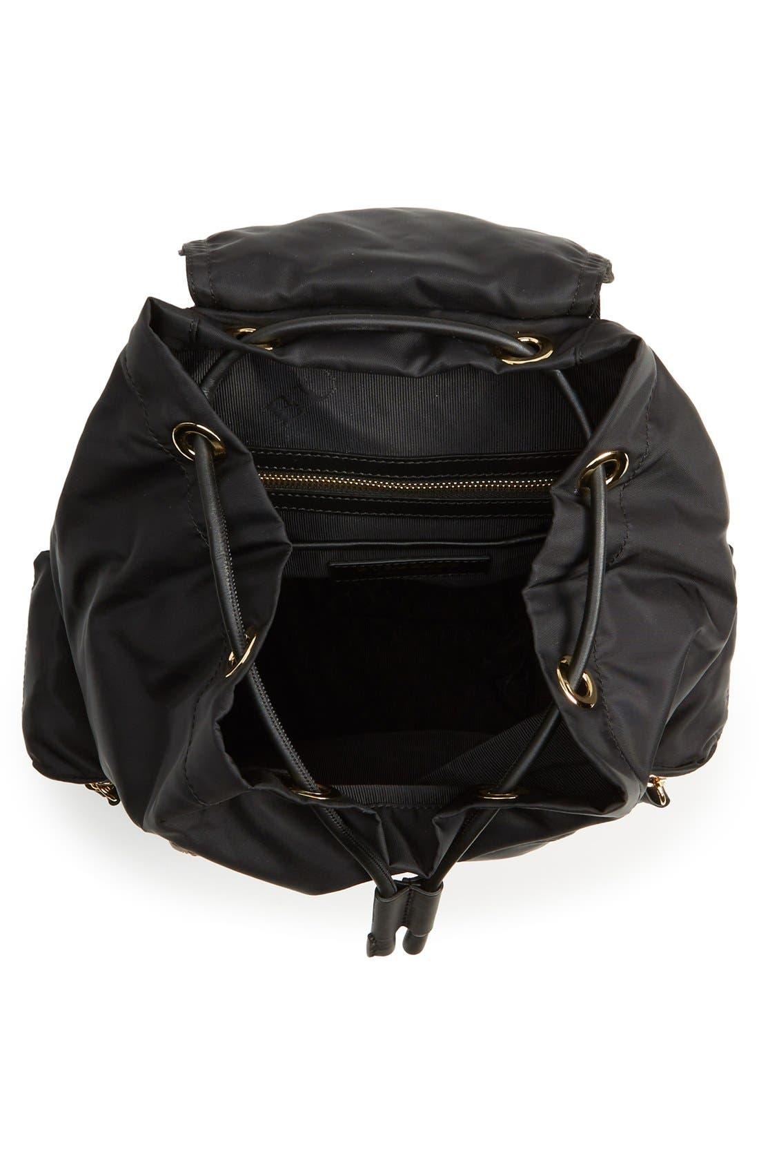 'Medium Runway Rucksack' Nylon Backpack,                             Alternate thumbnail 6, color,                             BLACK
