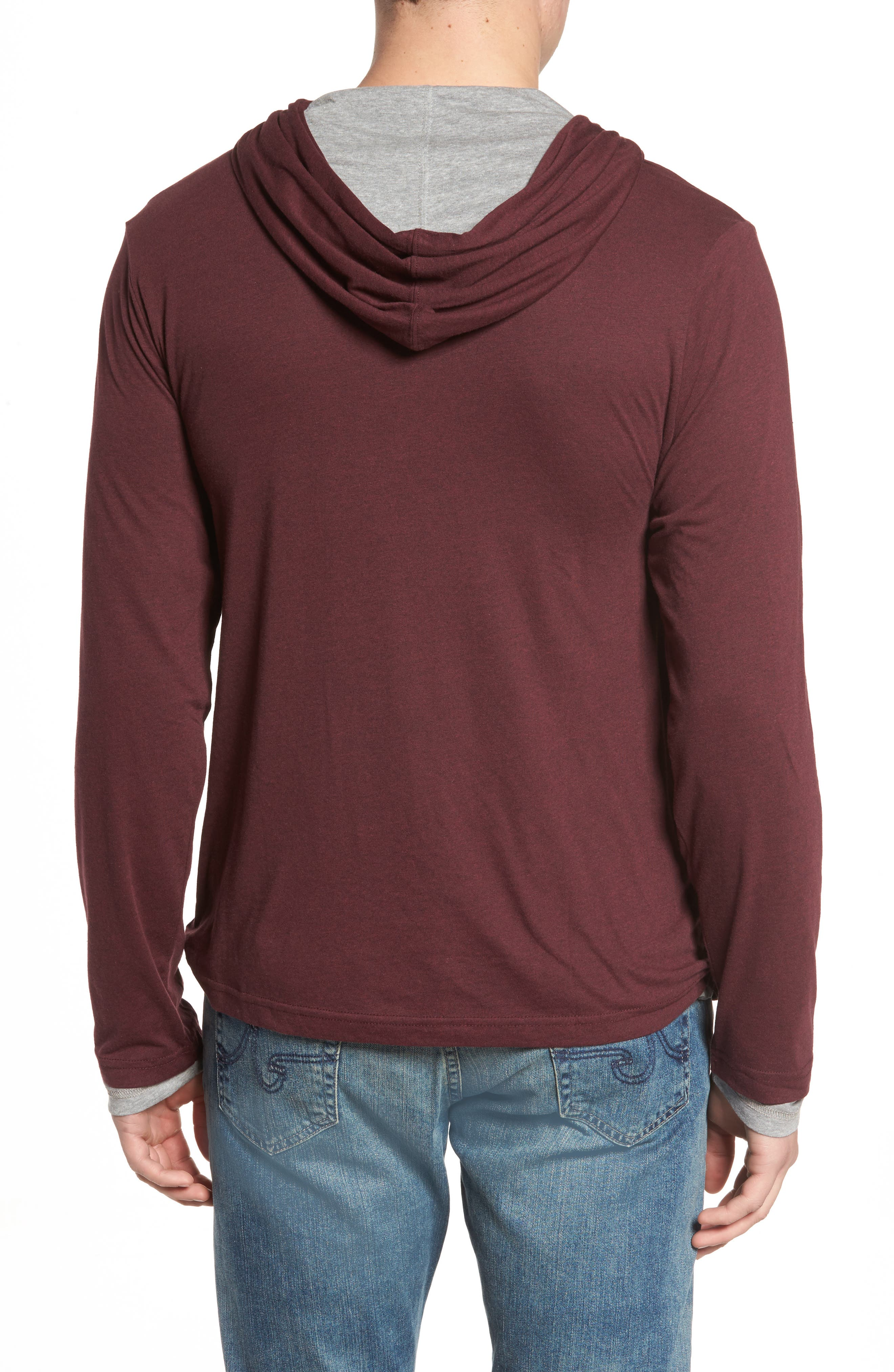Reversible Hooded Jersey T-Shirt,                             Alternate thumbnail 6, color,