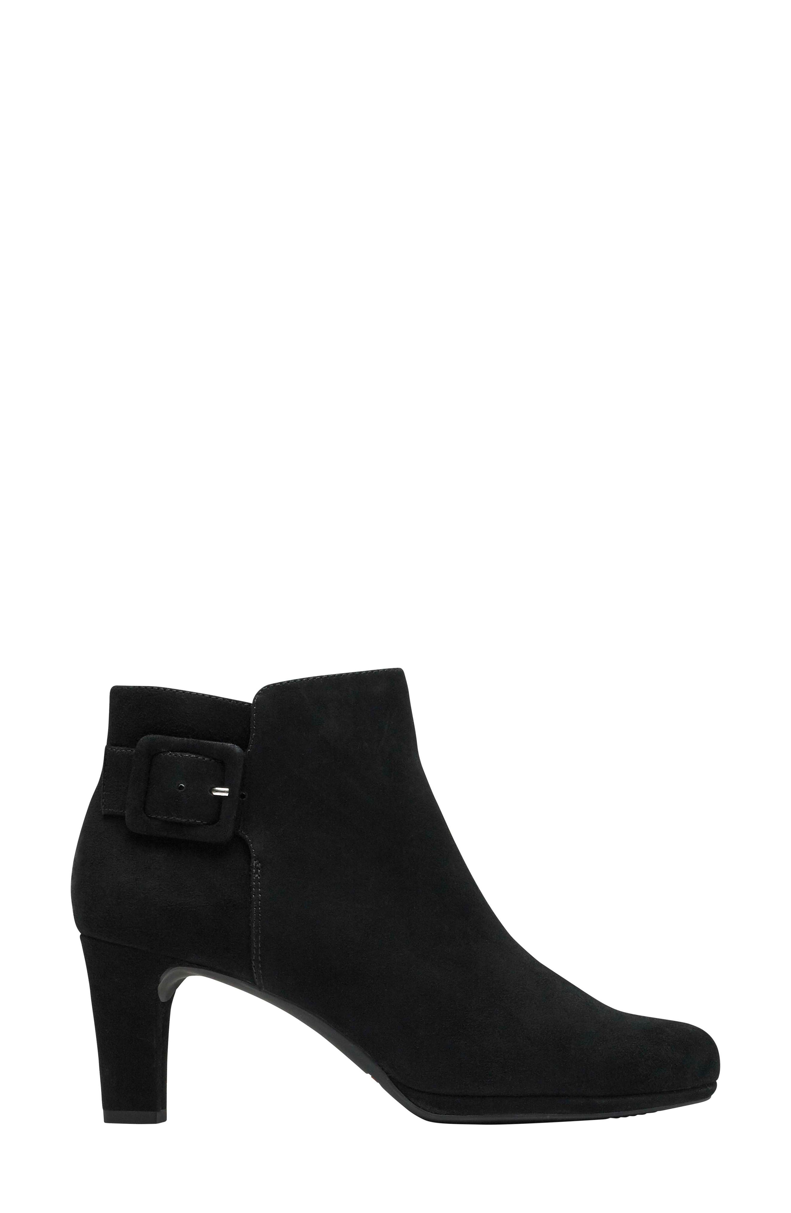 Total Motion Leah Bootie,                             Alternate thumbnail 3, color,                             BLACK SUEDE