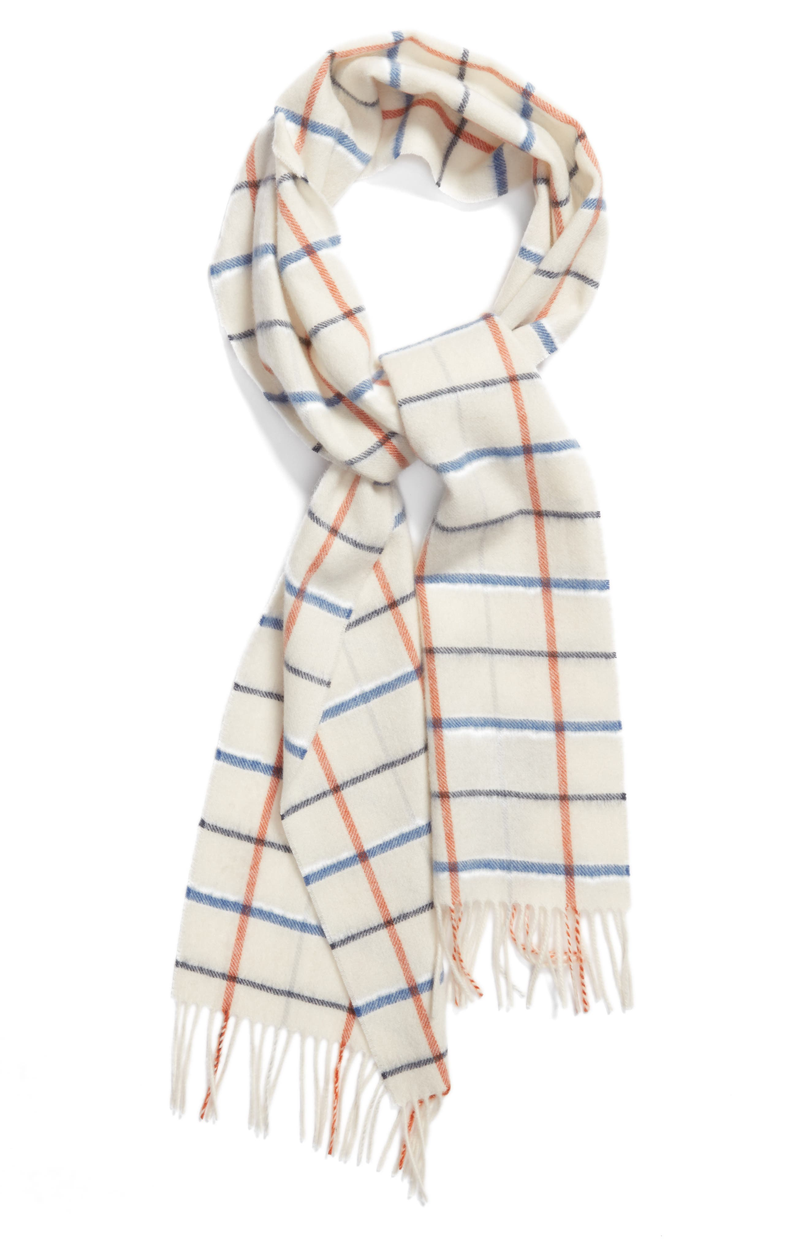 Country Tattersall Lambswool Scarf,                             Alternate thumbnail 2, color,                             450
